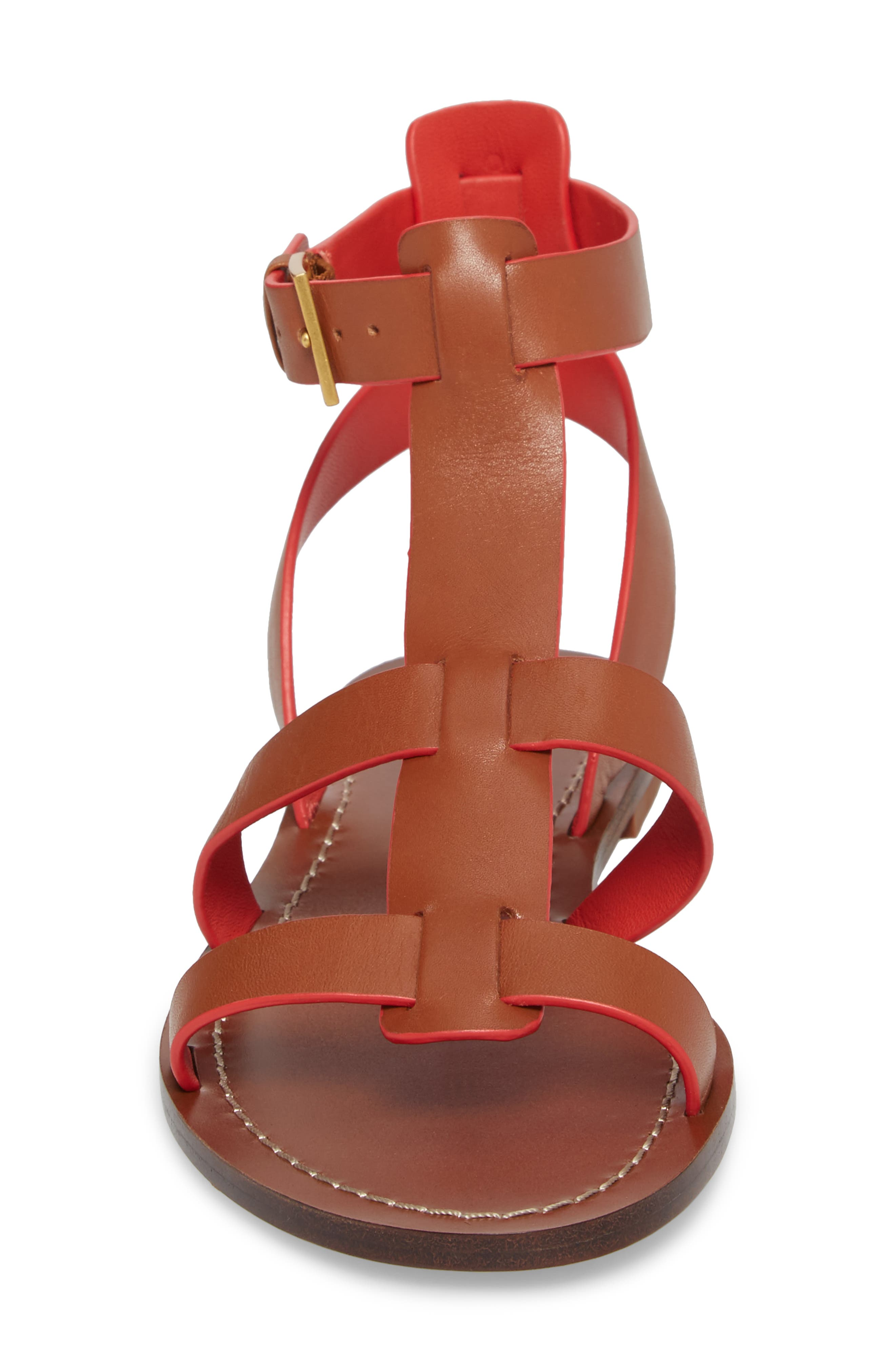Patos Gladiator Sandal,                             Alternate thumbnail 4, color,                             Perfect Cuoio