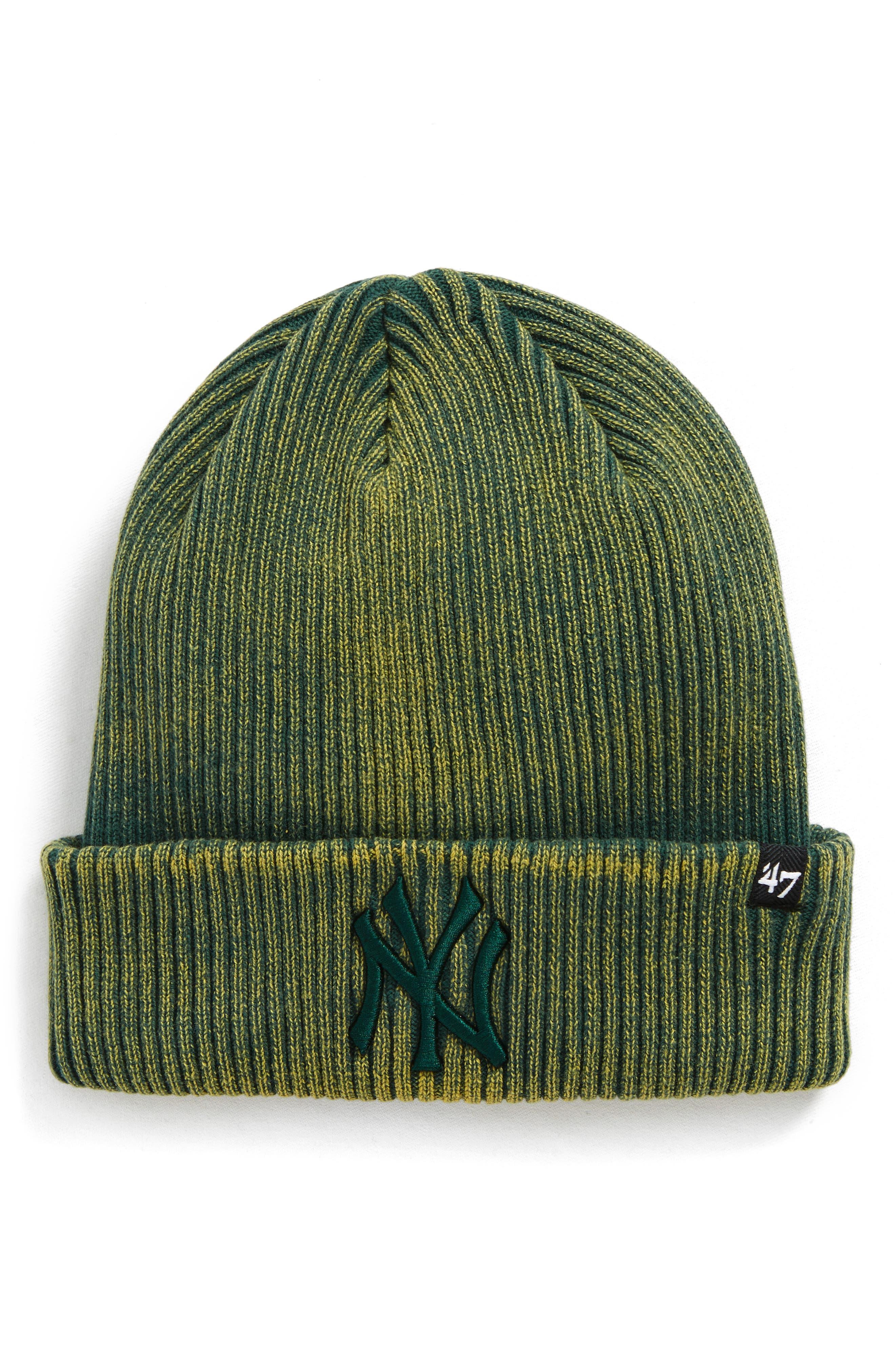 New York Yankees Beanie,                         Main,                         color, Green