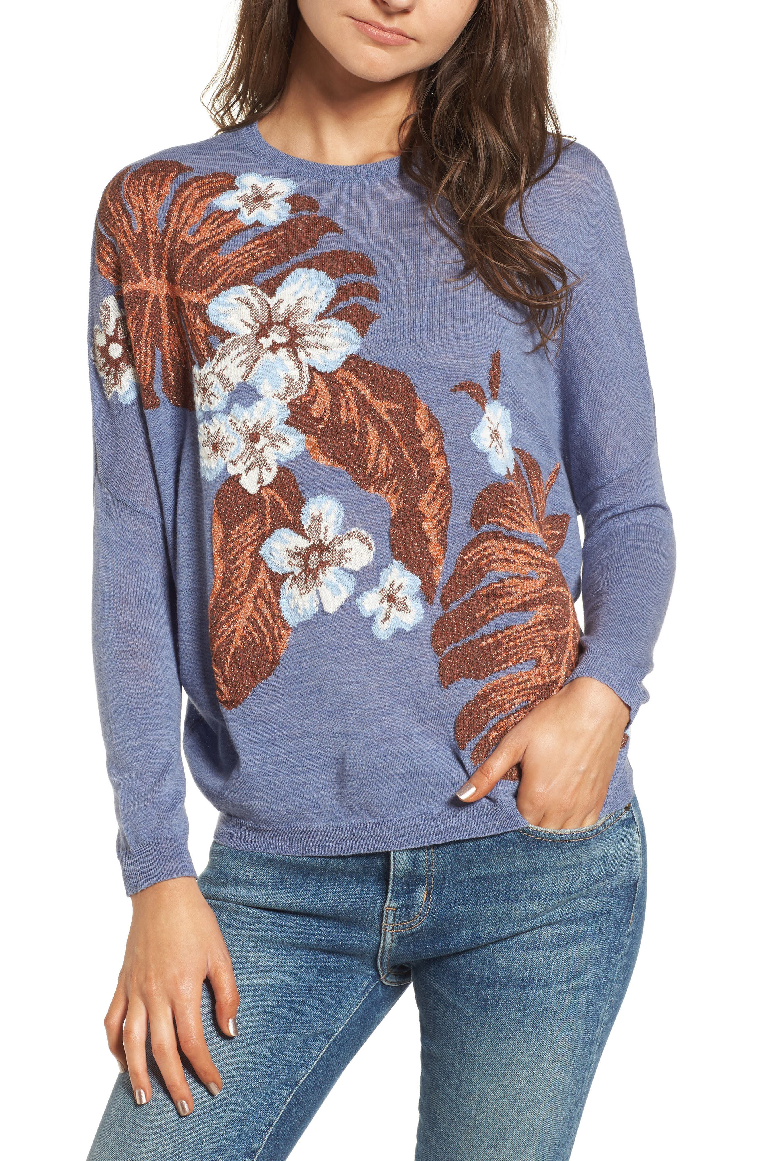 Blupalm Sweater,                             Main thumbnail 1, color,                             Denim