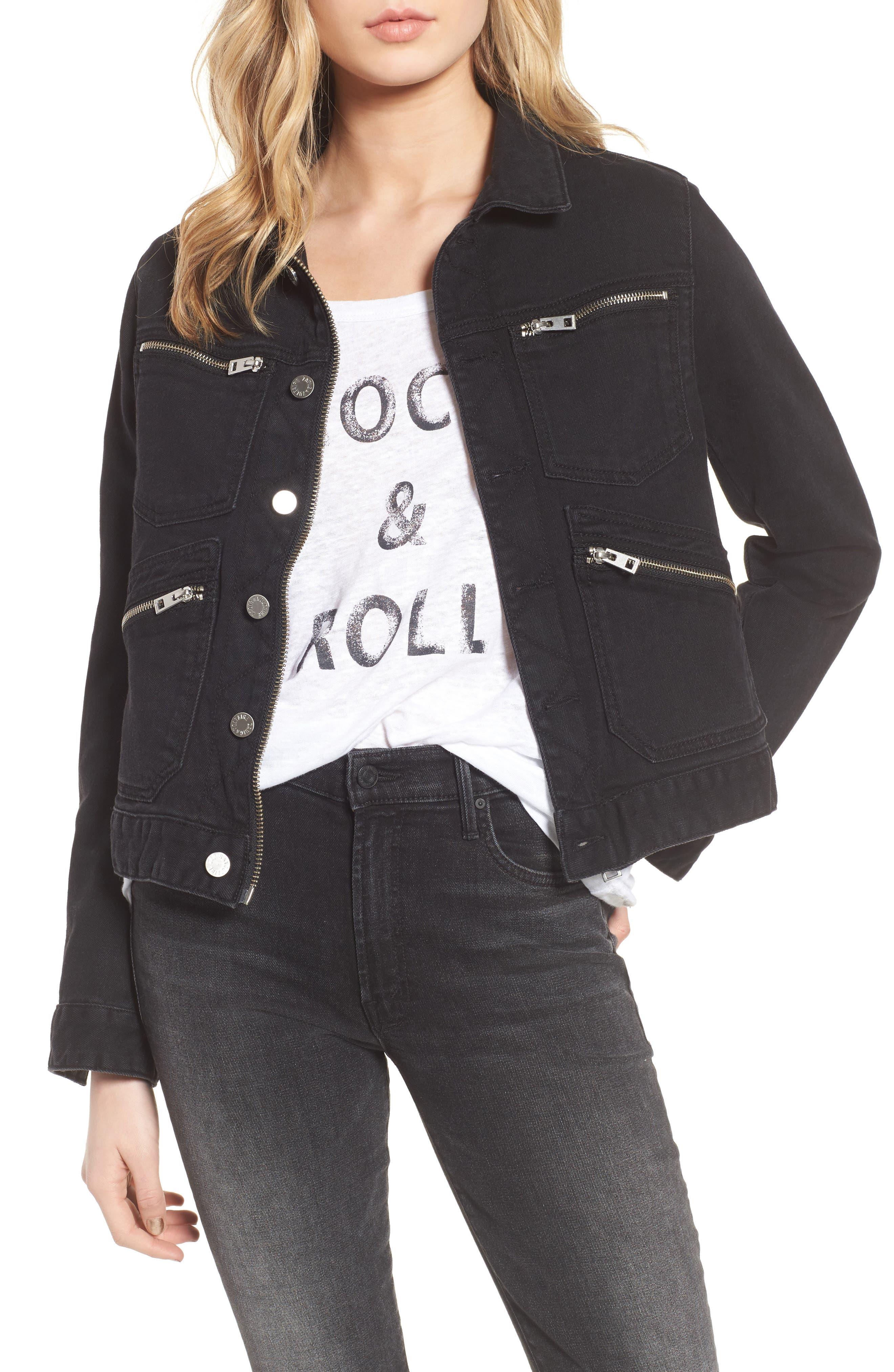 Kioko Cat Jacket,                             Main thumbnail 1, color,                             Black
