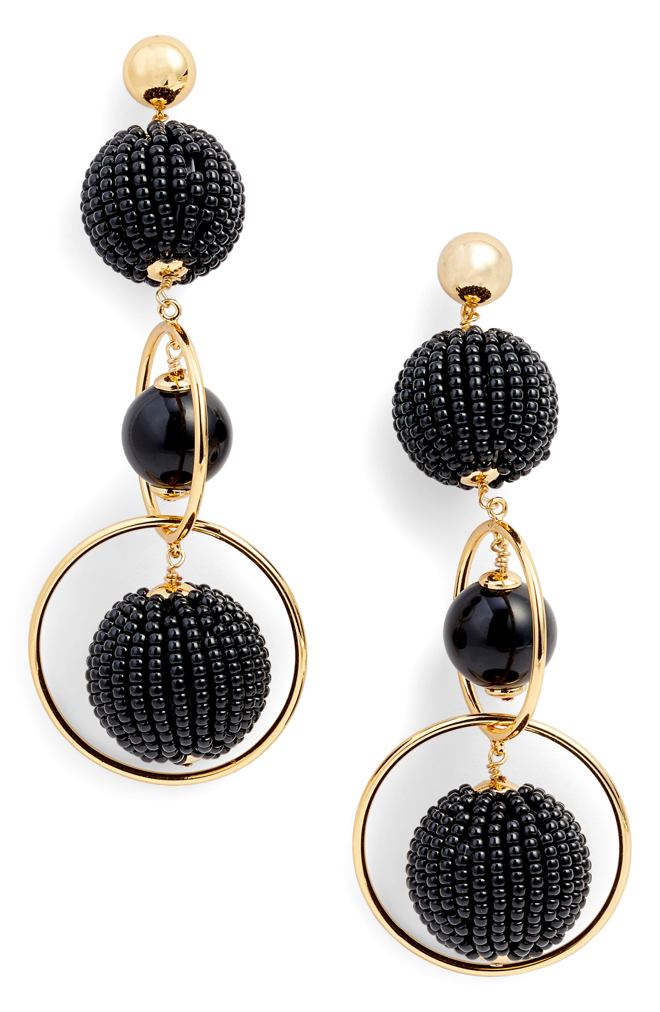 BEADS AND BAUBLES DROP EARRINGS