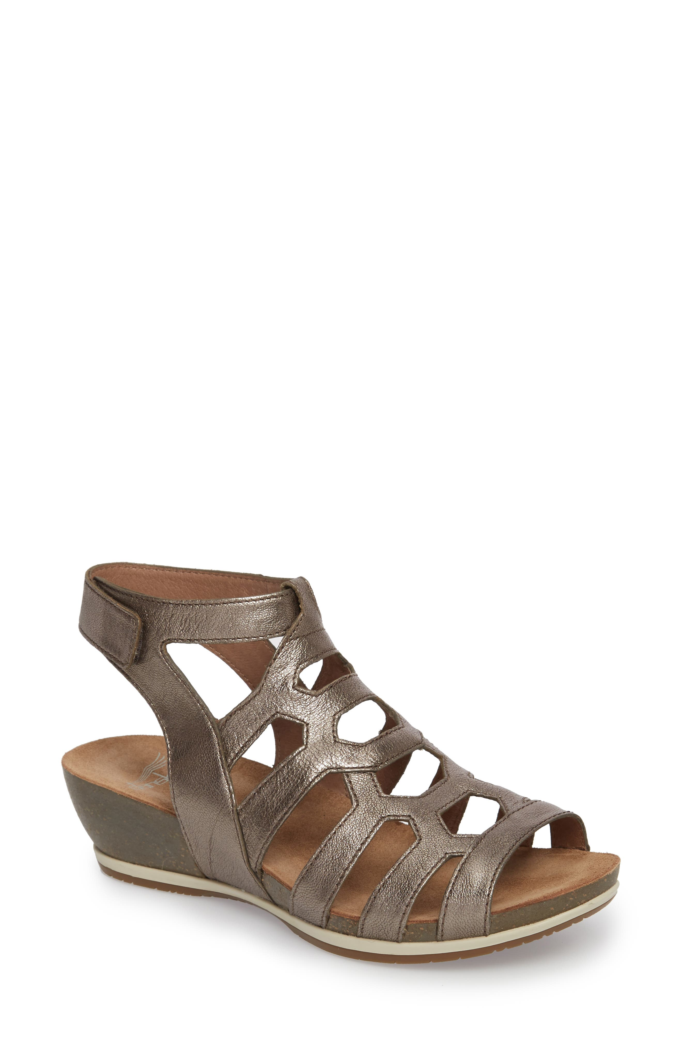 Dansko Valentina Caged Wedge Sandal (Women)