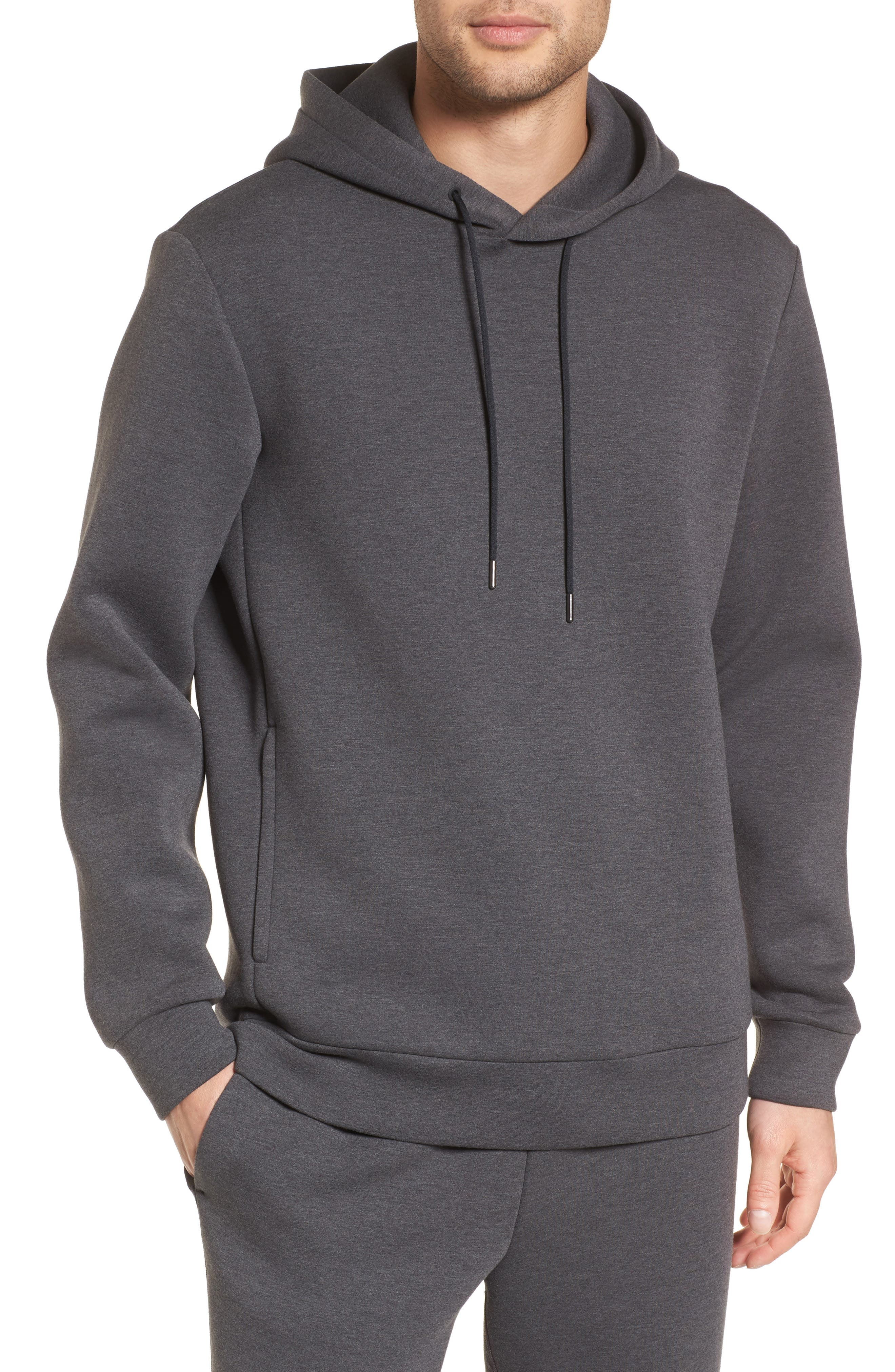 Scuba Pullover Hoodie,                             Main thumbnail 1, color,                             Charcoal Heather