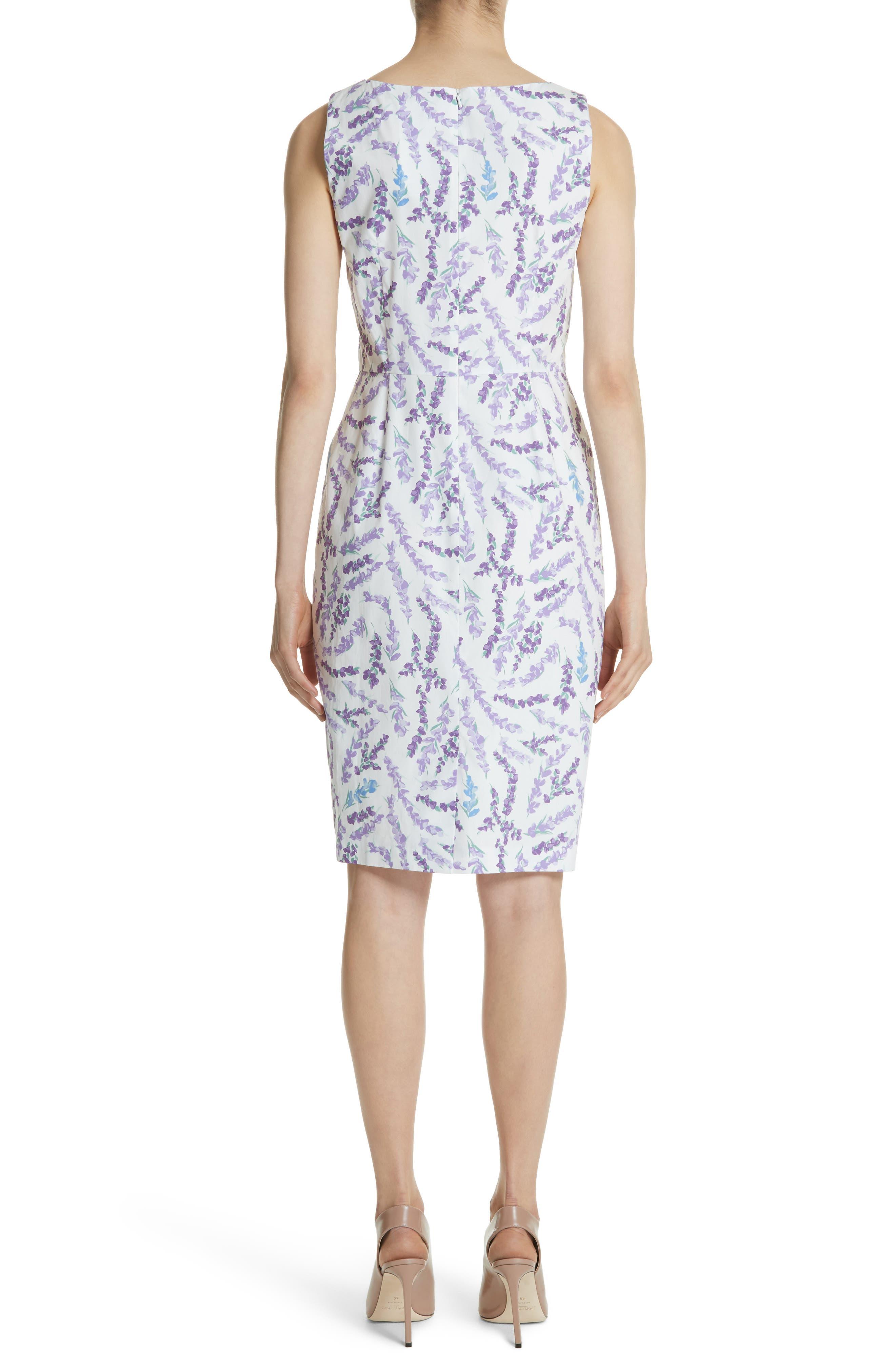 Melfi Print Cotton Sheath Dress,                             Alternate thumbnail 2, color,                             Lavender