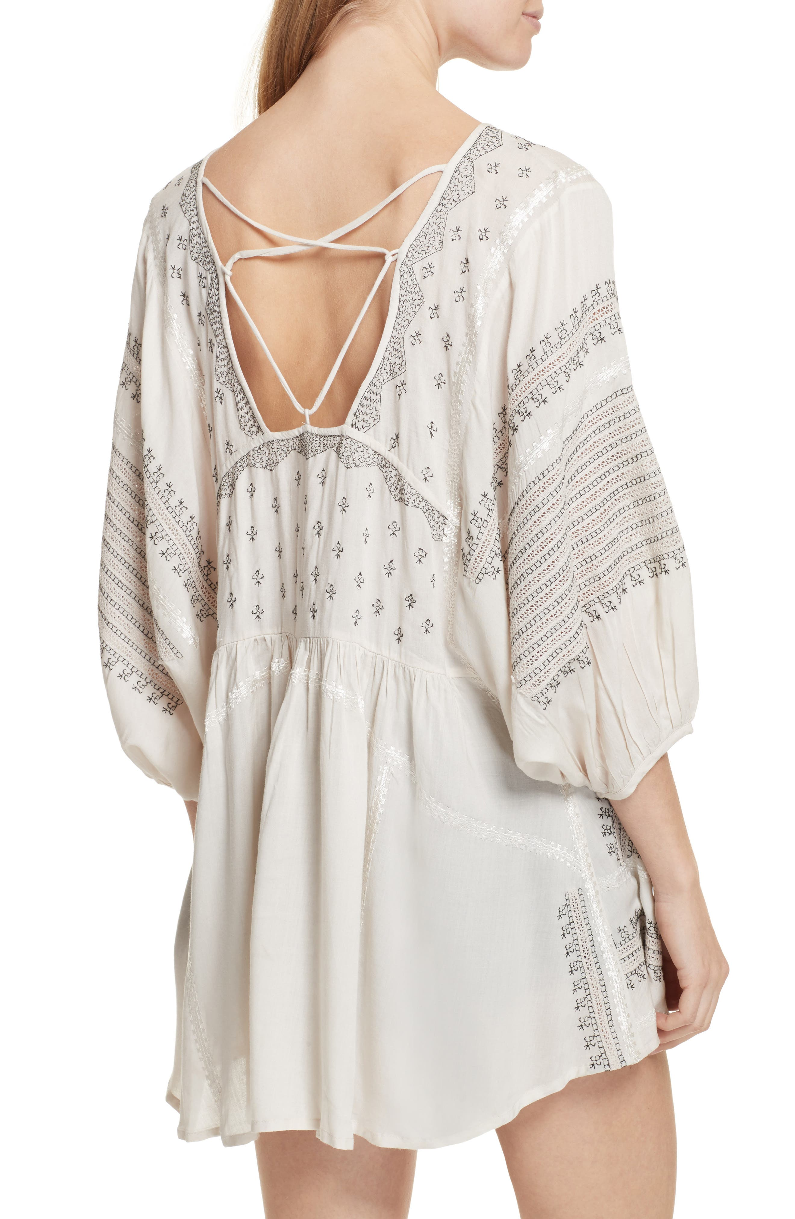 Wild One Embroidered Top,                             Alternate thumbnail 2, color,                             Ivory