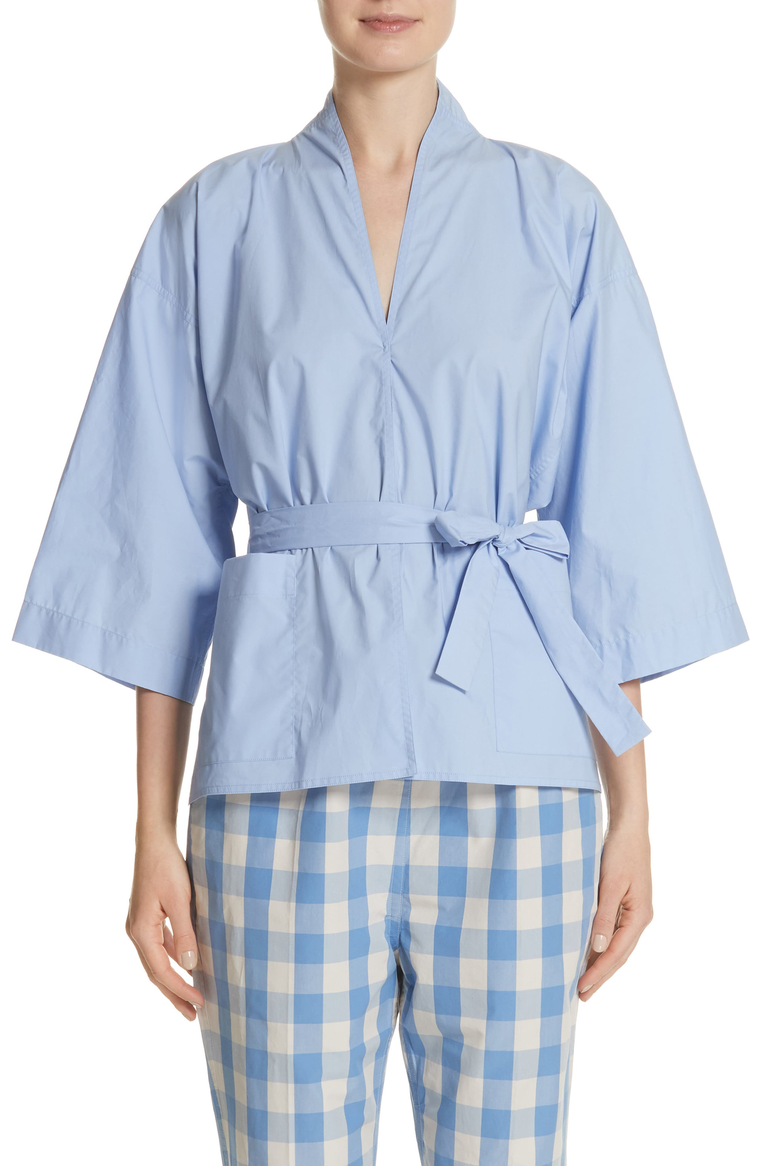 Belted Blouse,                             Main thumbnail 1, color,                             Dragee