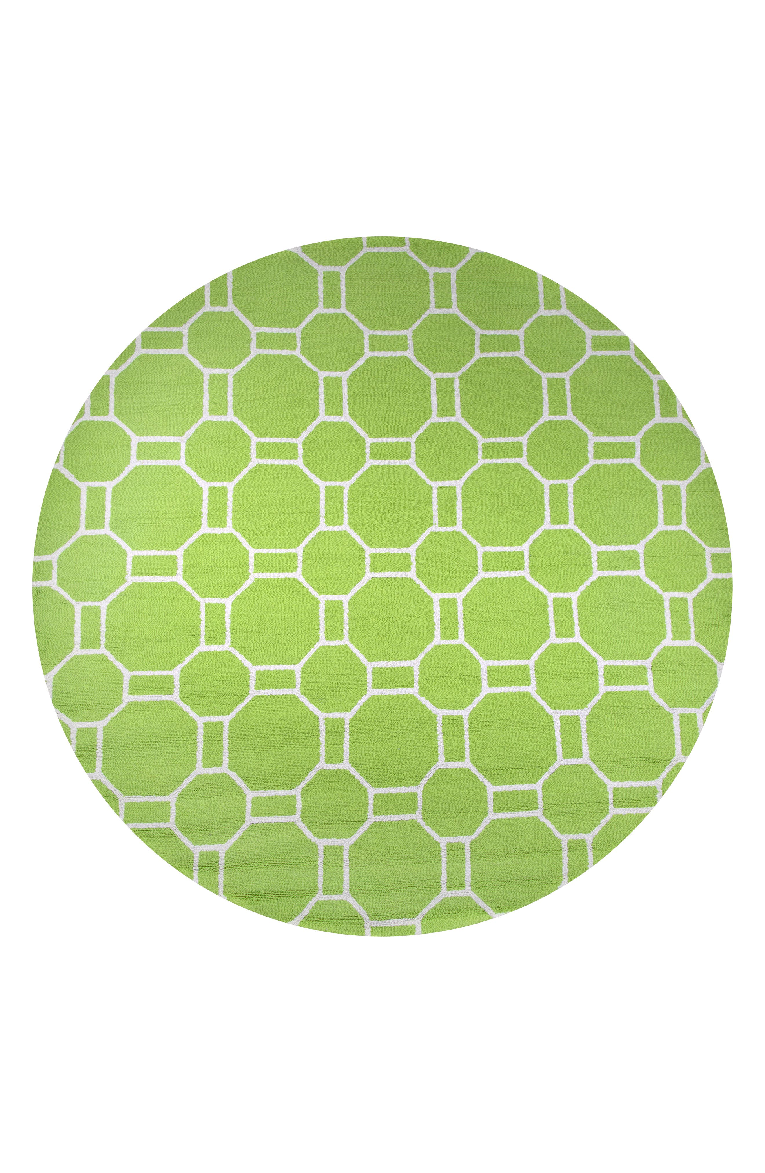 Azzura Hill Adrienna Rug,                             Alternate thumbnail 3, color,                             Lime
