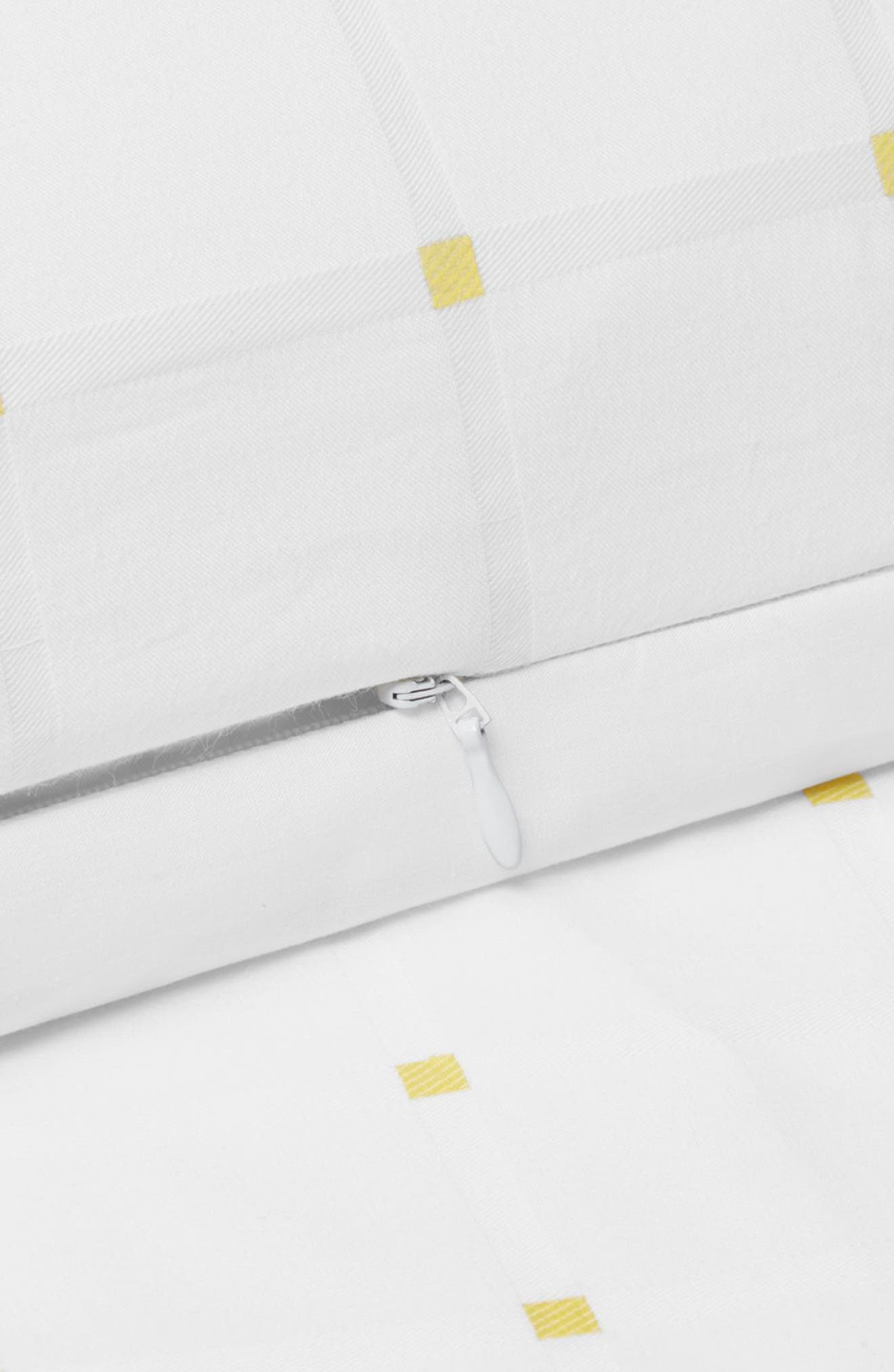 Edith Duvet Cover,                             Alternate thumbnail 2, color,                             White/ Yellow