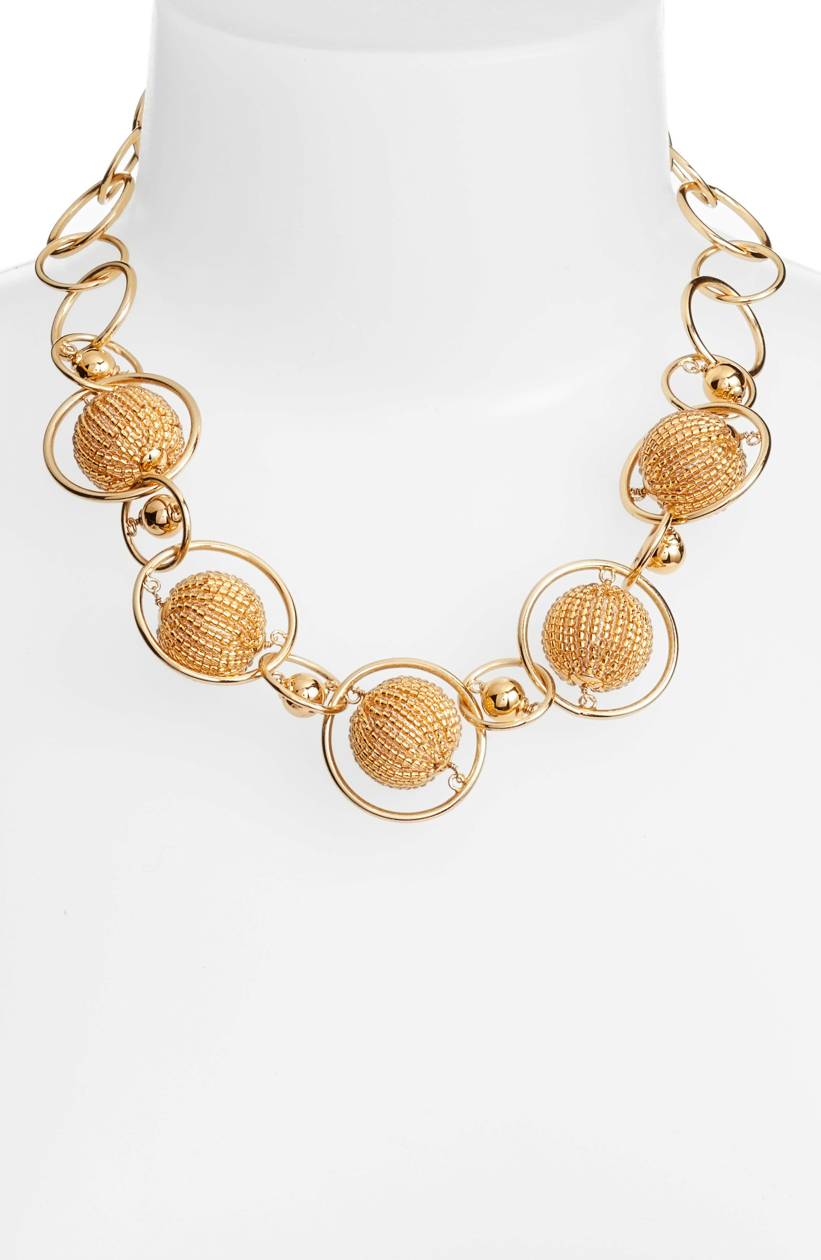 beads and baubles choker,                             Alternate thumbnail 2, color,                             Gold