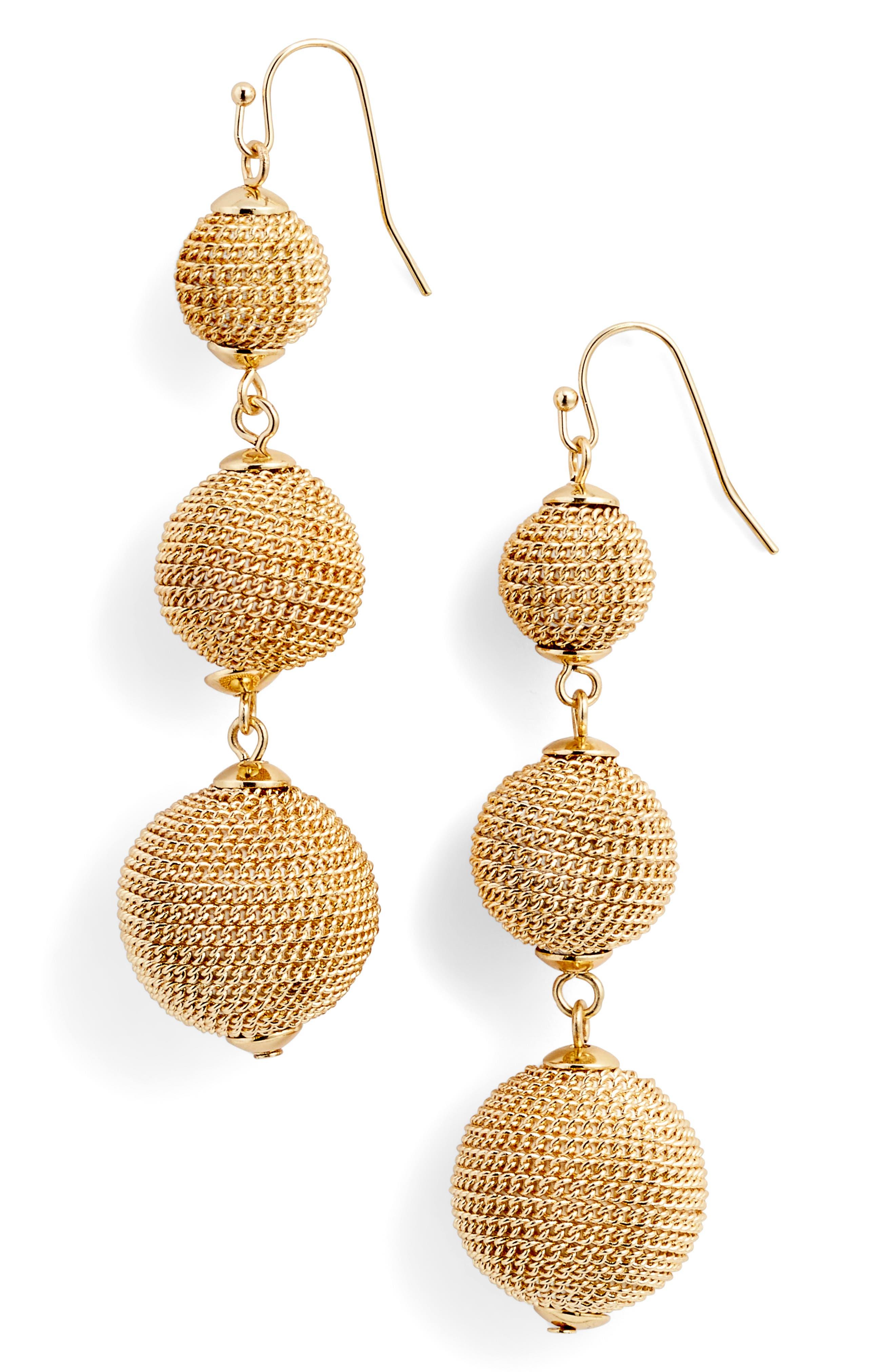 Main Image - Halogen® Chain Wrap Drop Earrings