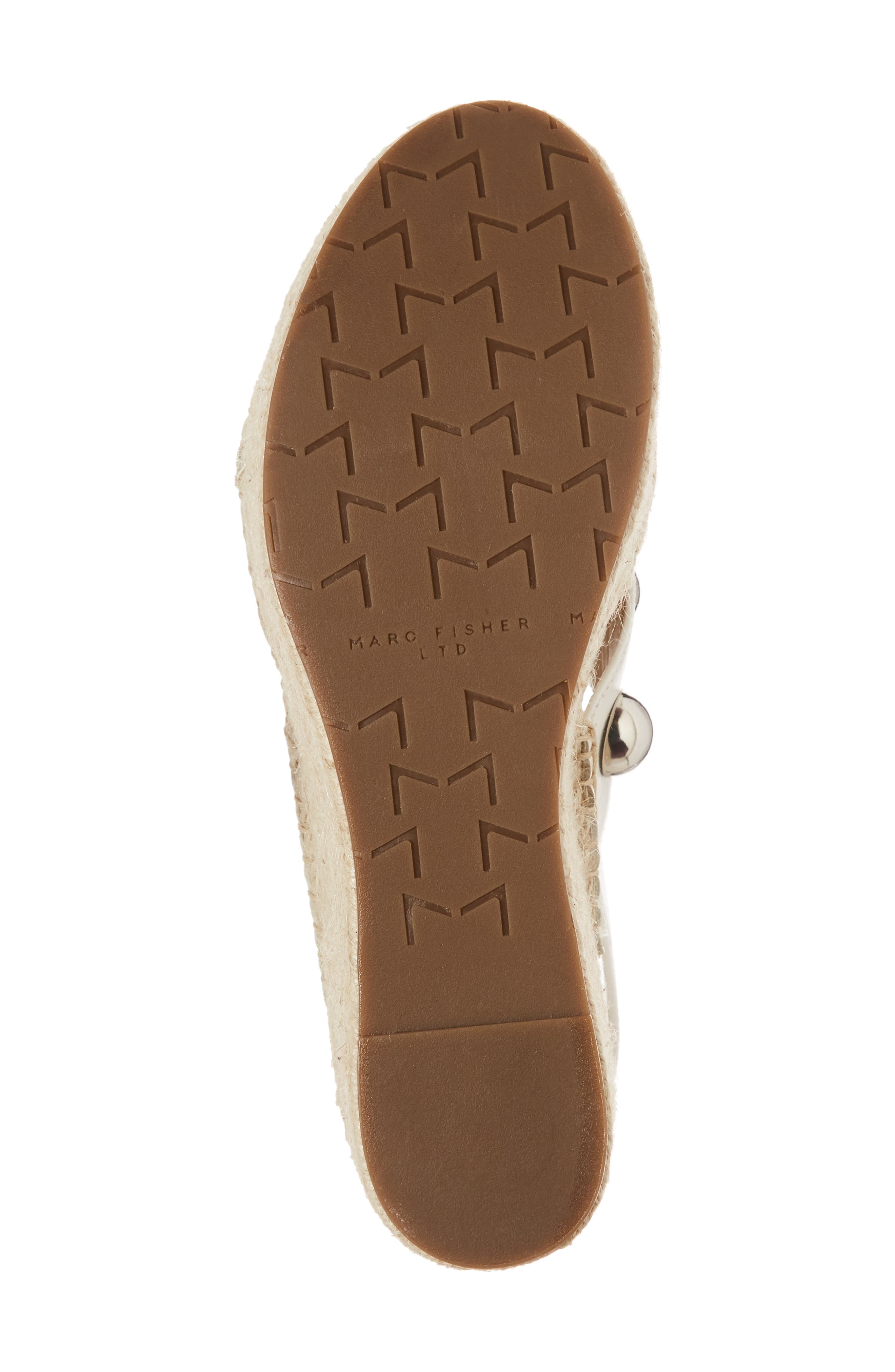Rella Espadrille Platform Sandal,                             Alternate thumbnail 6, color,                             Ivory Leather