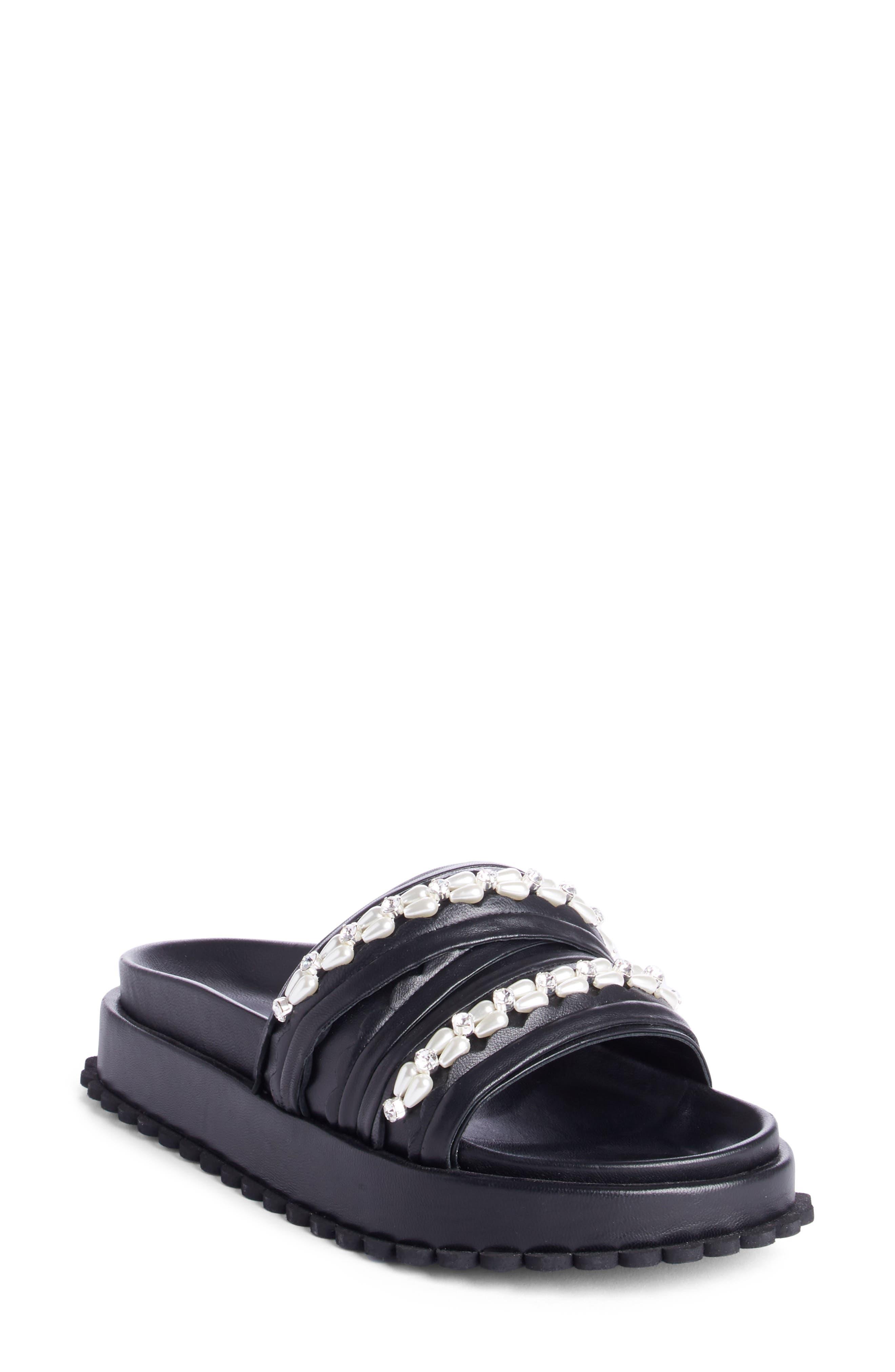 Simone Rocha Embellished Multi Strap Slide Sandal (Women)