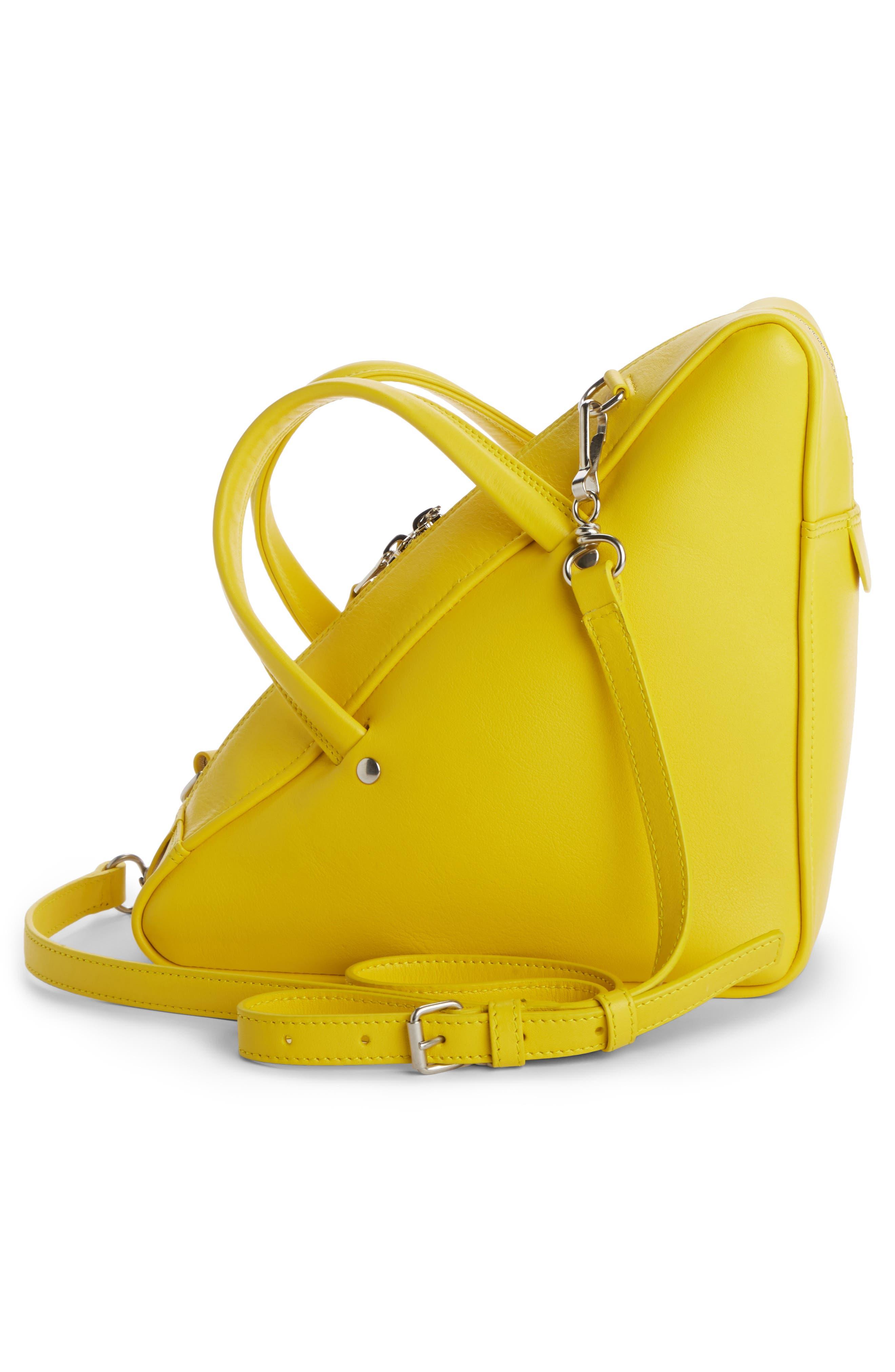 Small Triangle Duffel Bag,                             Alternate thumbnail 2, color,                             Jaune