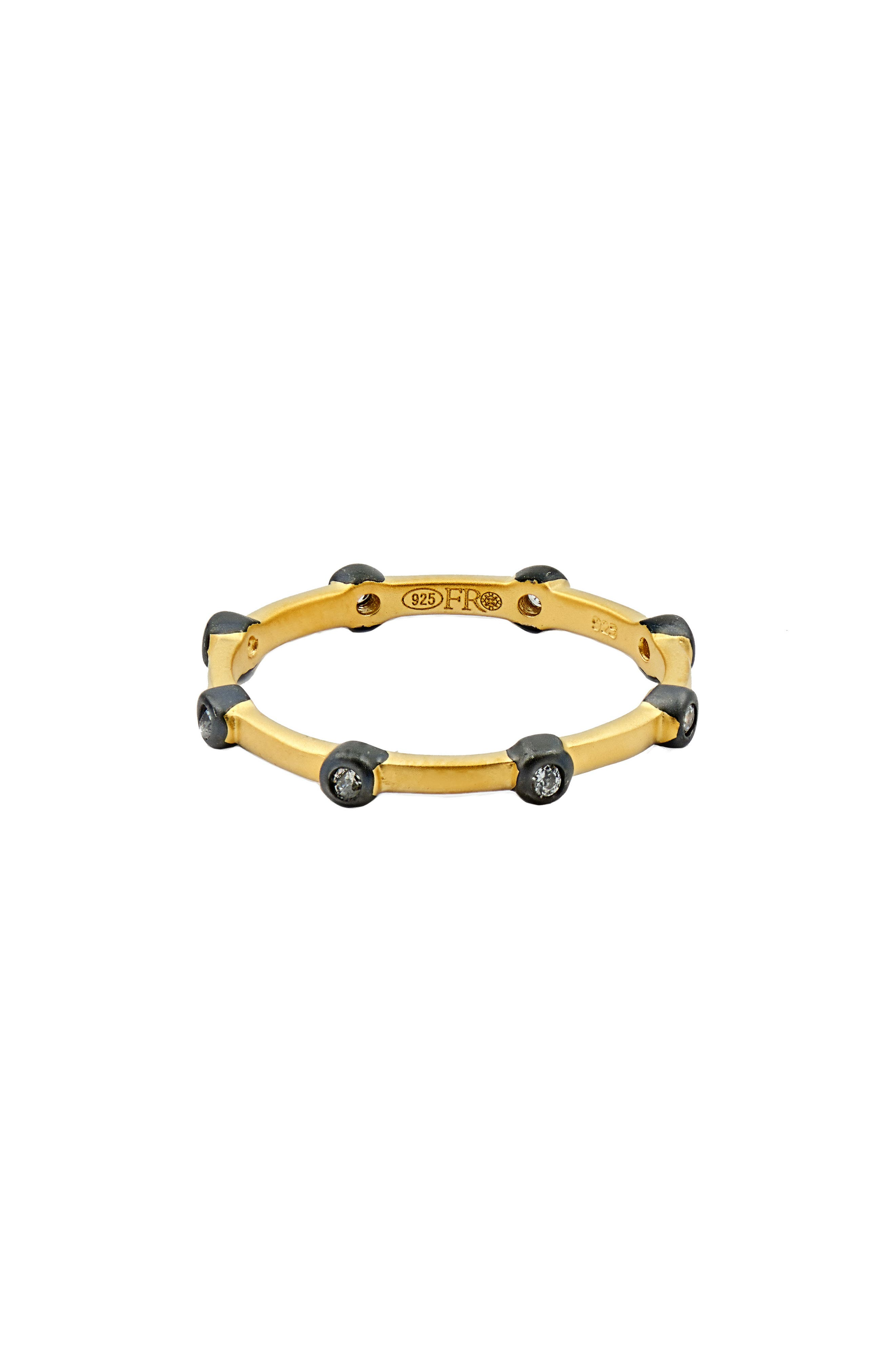 Stackable Ring,                             Main thumbnail 1, color,                             Black/ Gold