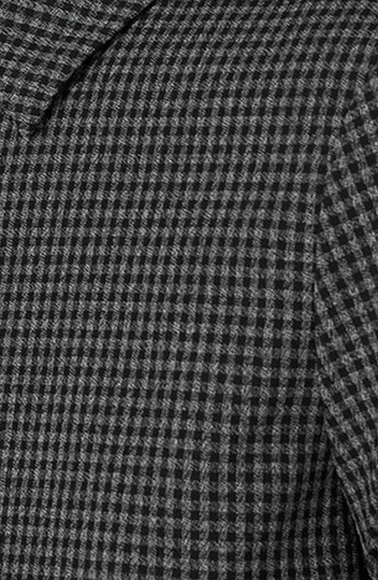 Gingham Harrington Jacket,                             Alternate thumbnail 3, color,                             Grey Multi