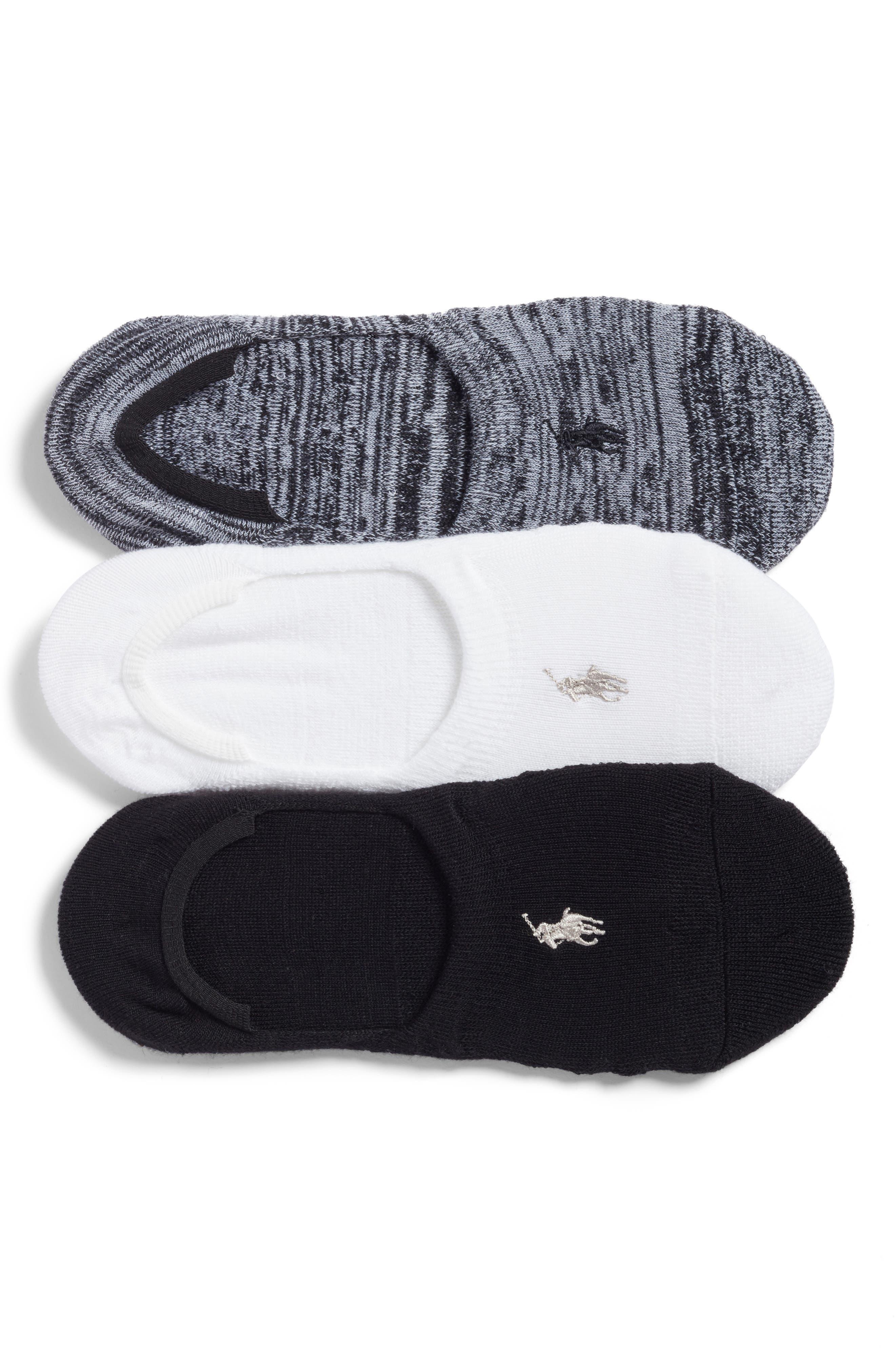Ralph Lauren 3-Pack Marled Sneaker Liner Socks