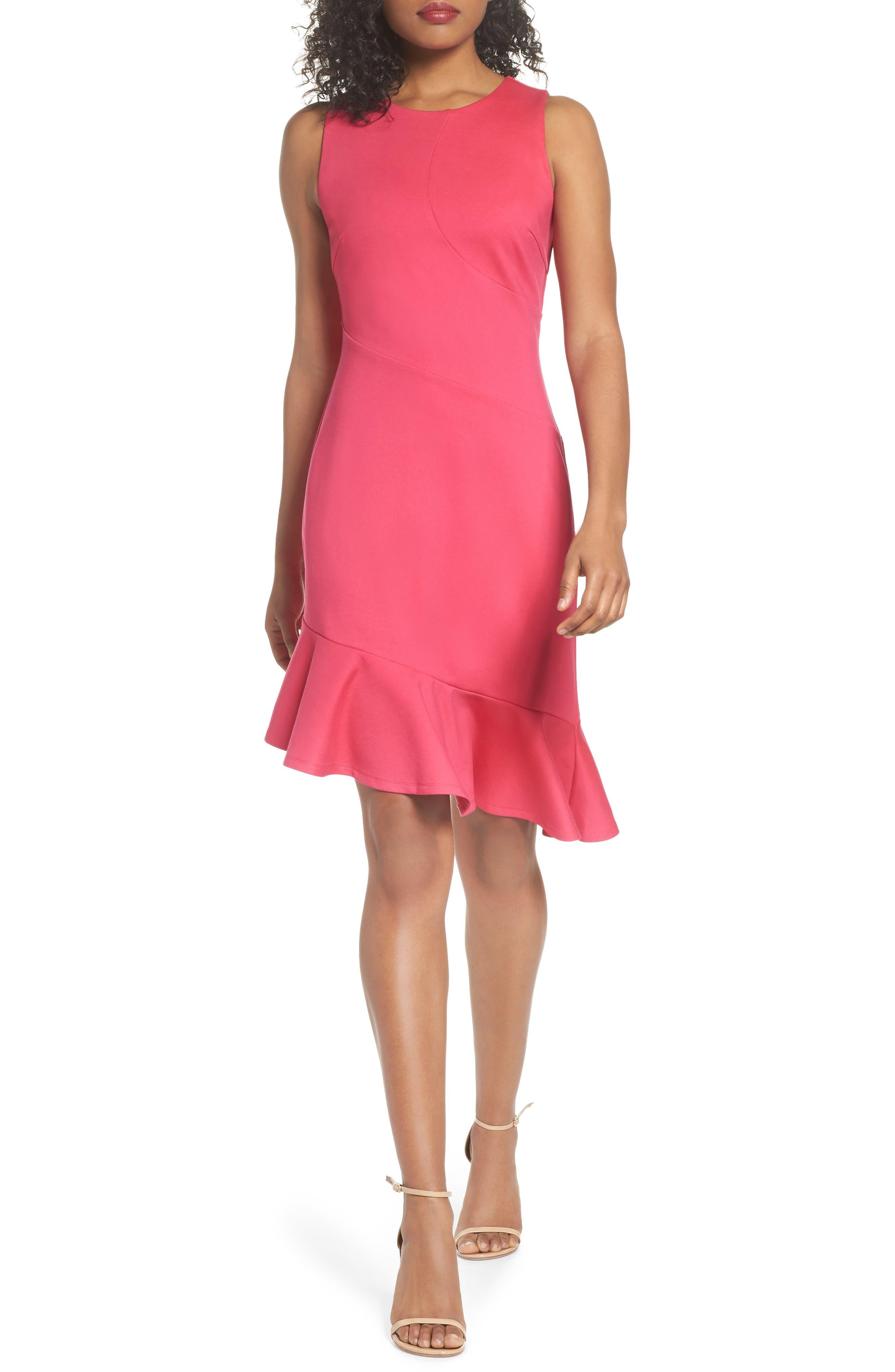 Asymmetric Sheath Dress,                         Main,                         color, Pink Lilac