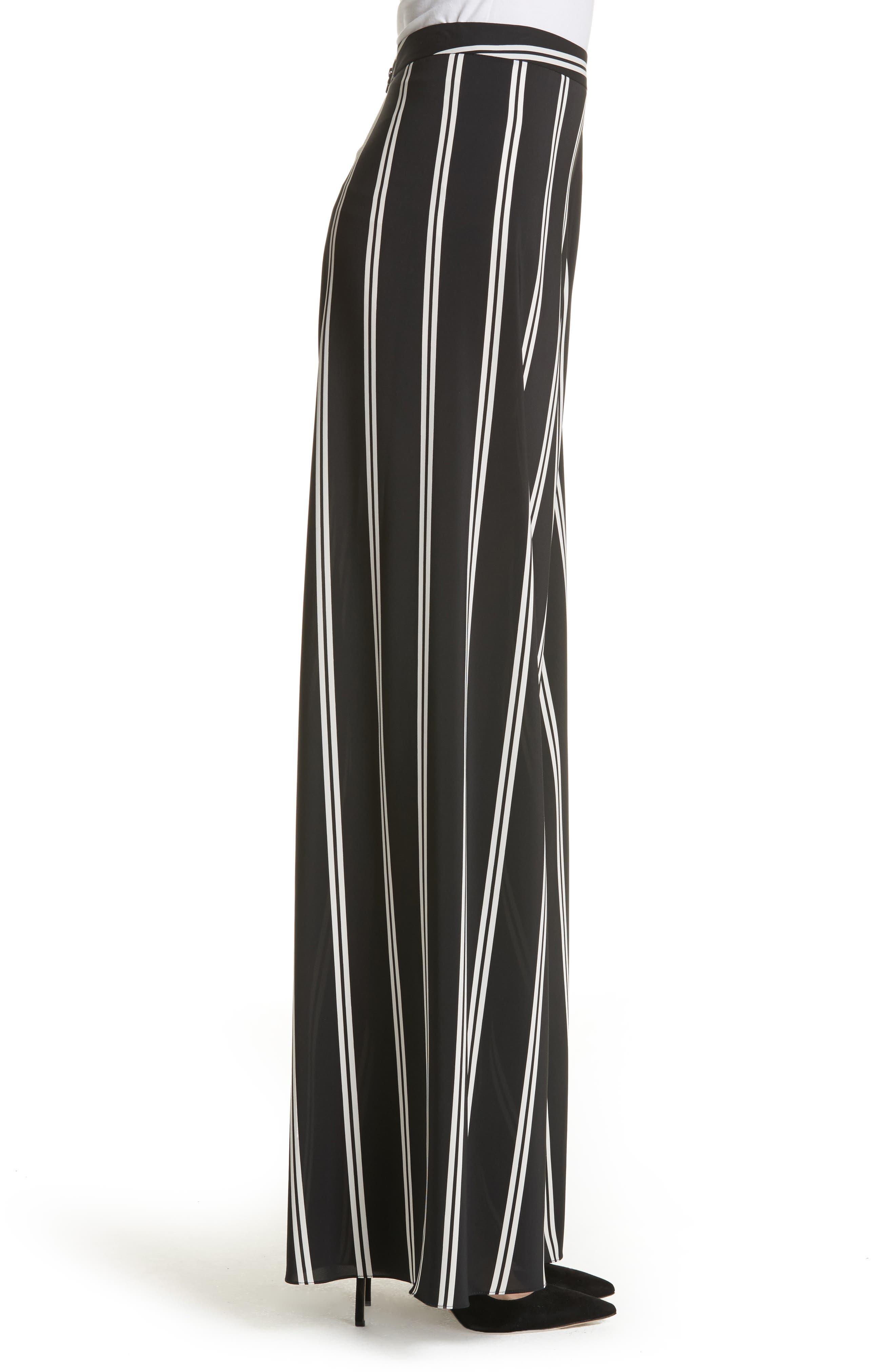 Athena Super Flared Wide Leg Pants,                             Alternate thumbnail 3, color,                             Modern Pinstripe