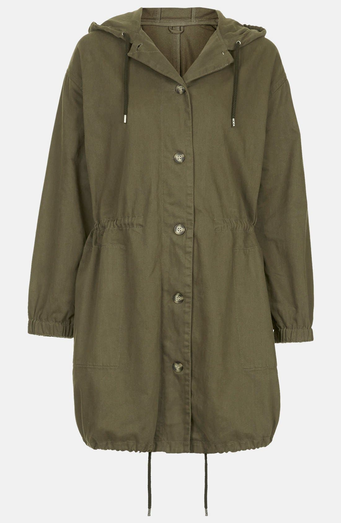 Alternate Image 5  - Topshop 'Marte' Hooded Parka (Brit Pop-In)