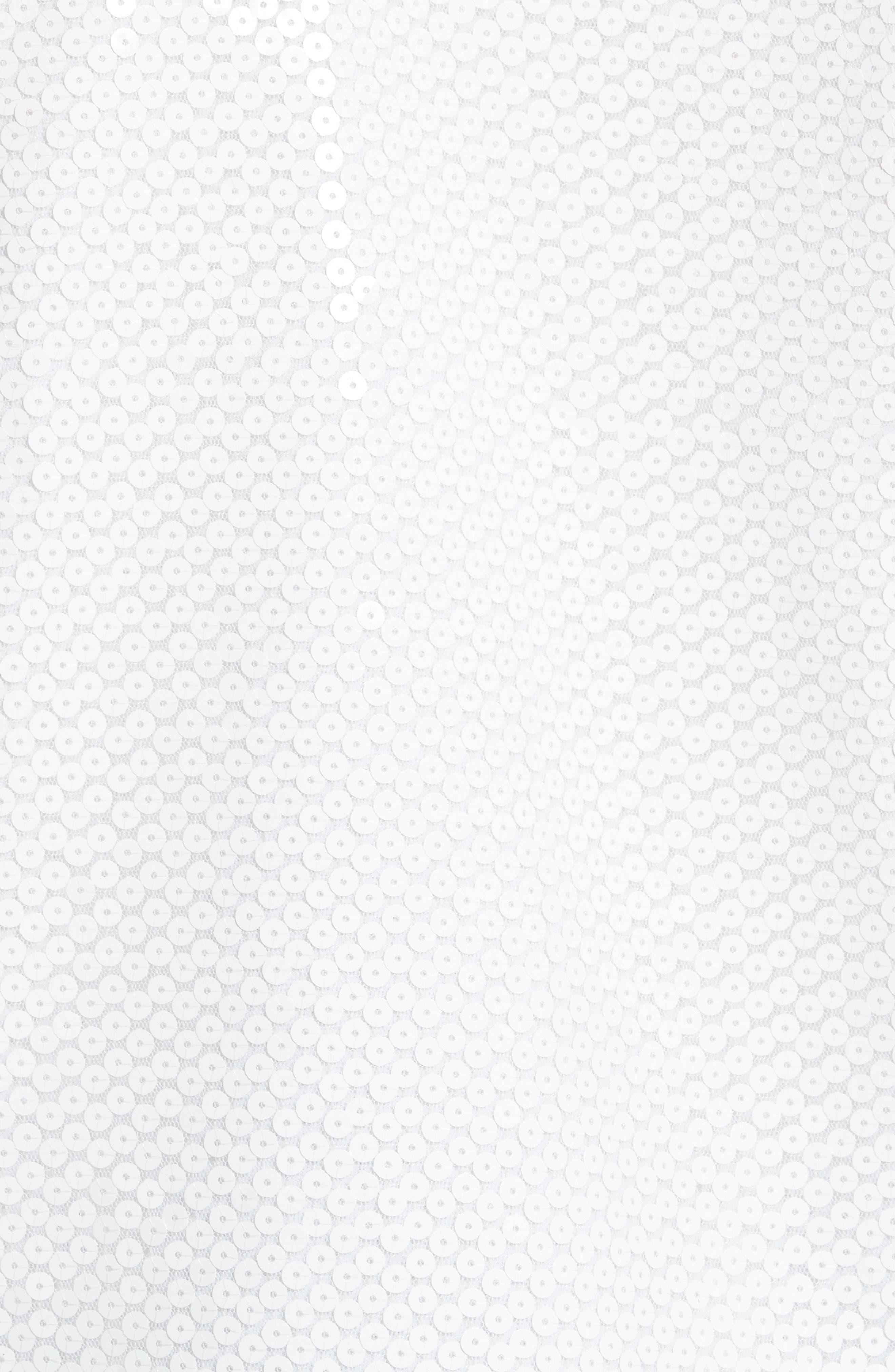 Sequin Back Sweatshirt,                             Alternate thumbnail 5, color,                             White
