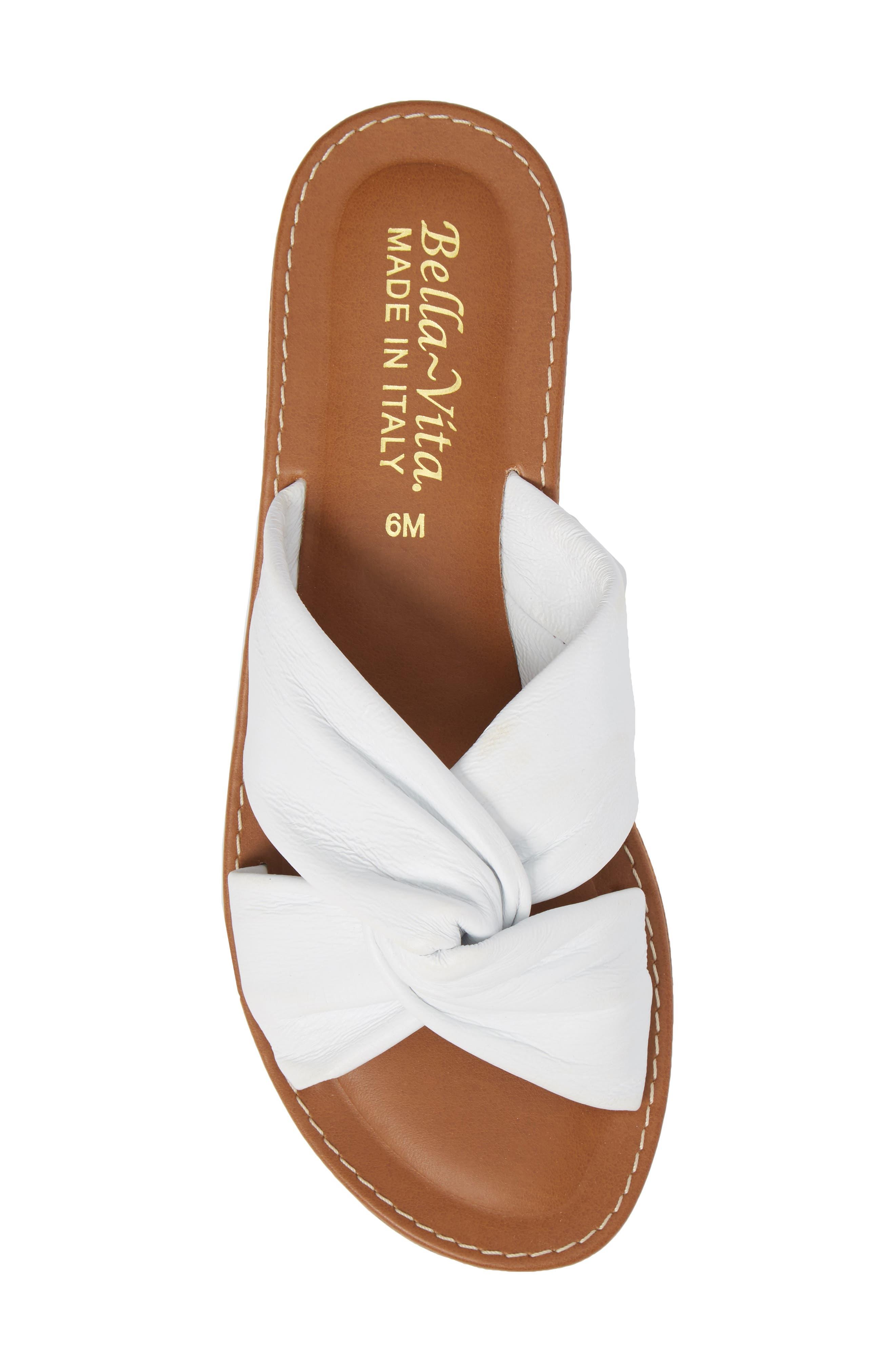 Noa Slide Sandal,                             Alternate thumbnail 5, color,                             White Leather