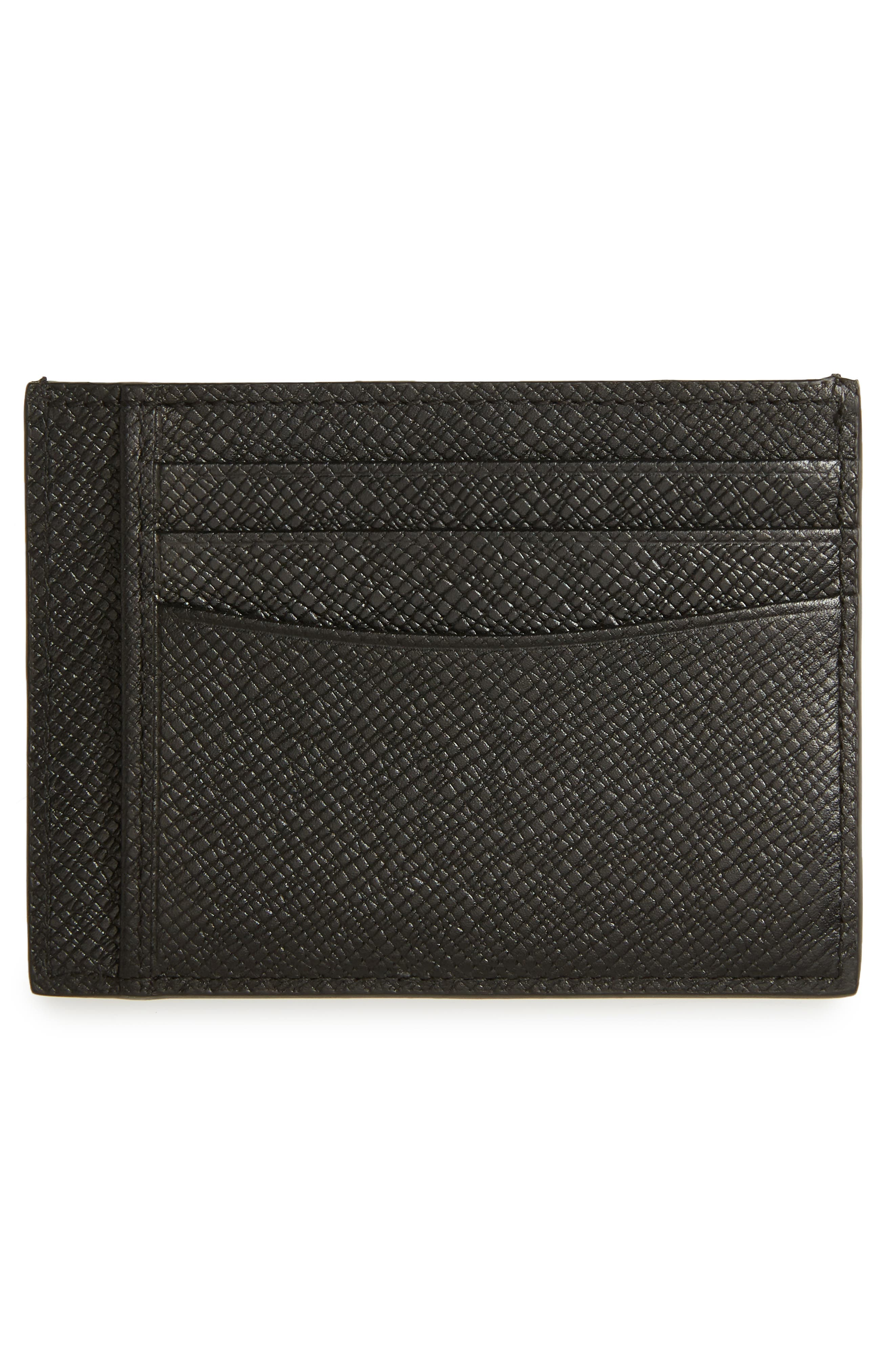 Signature Leather Card Case,                             Alternate thumbnail 2, color,                             Black Watch
