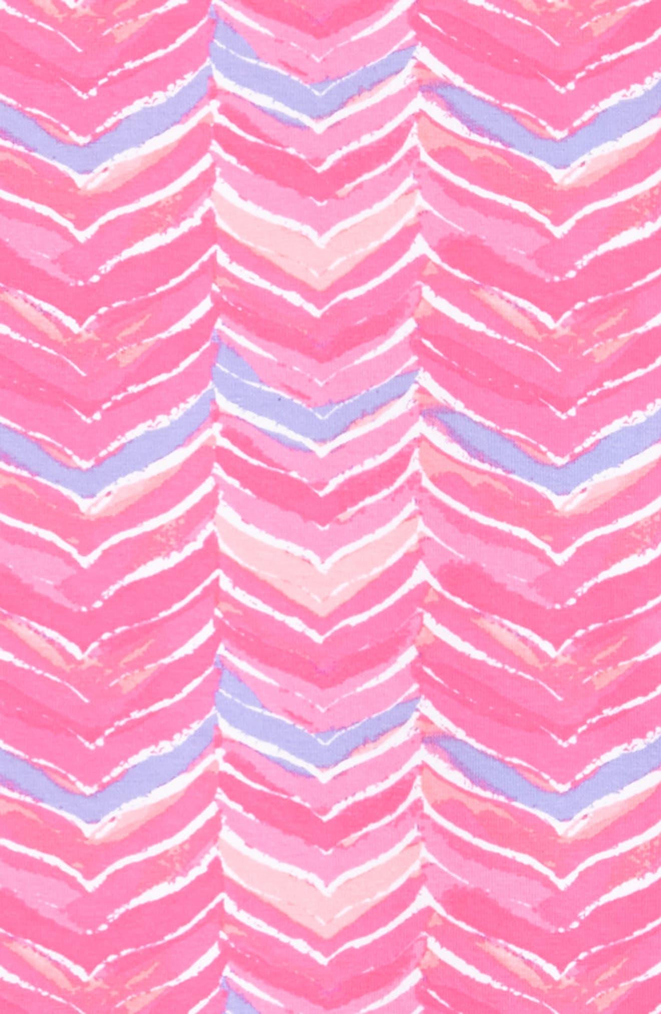 Watercolor Whale Tail Print Dress,                             Alternate thumbnail 3, color,                             Pink Sherbet