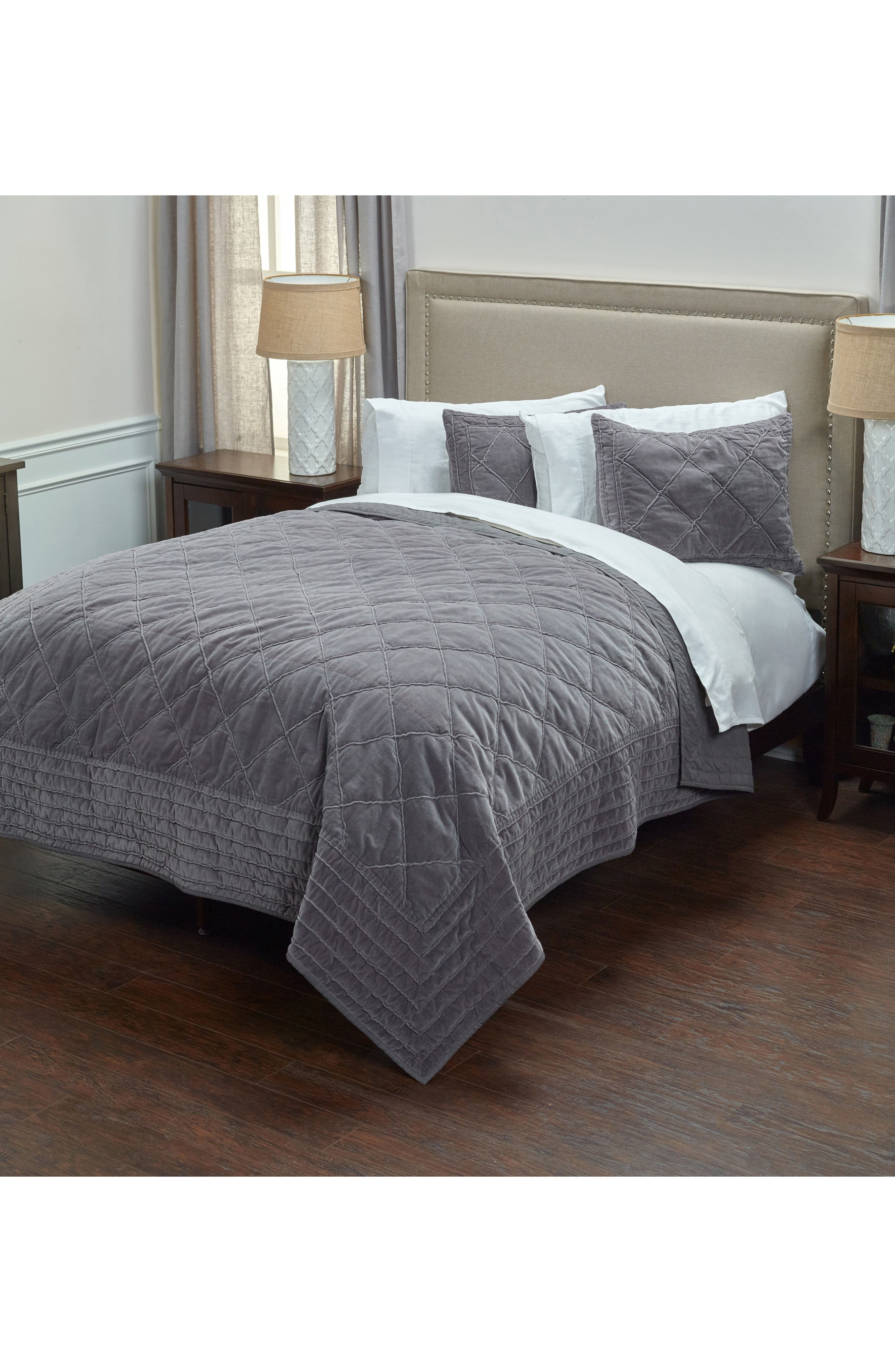 Collin Quilt,                         Main,                         color, Charcoal Grey