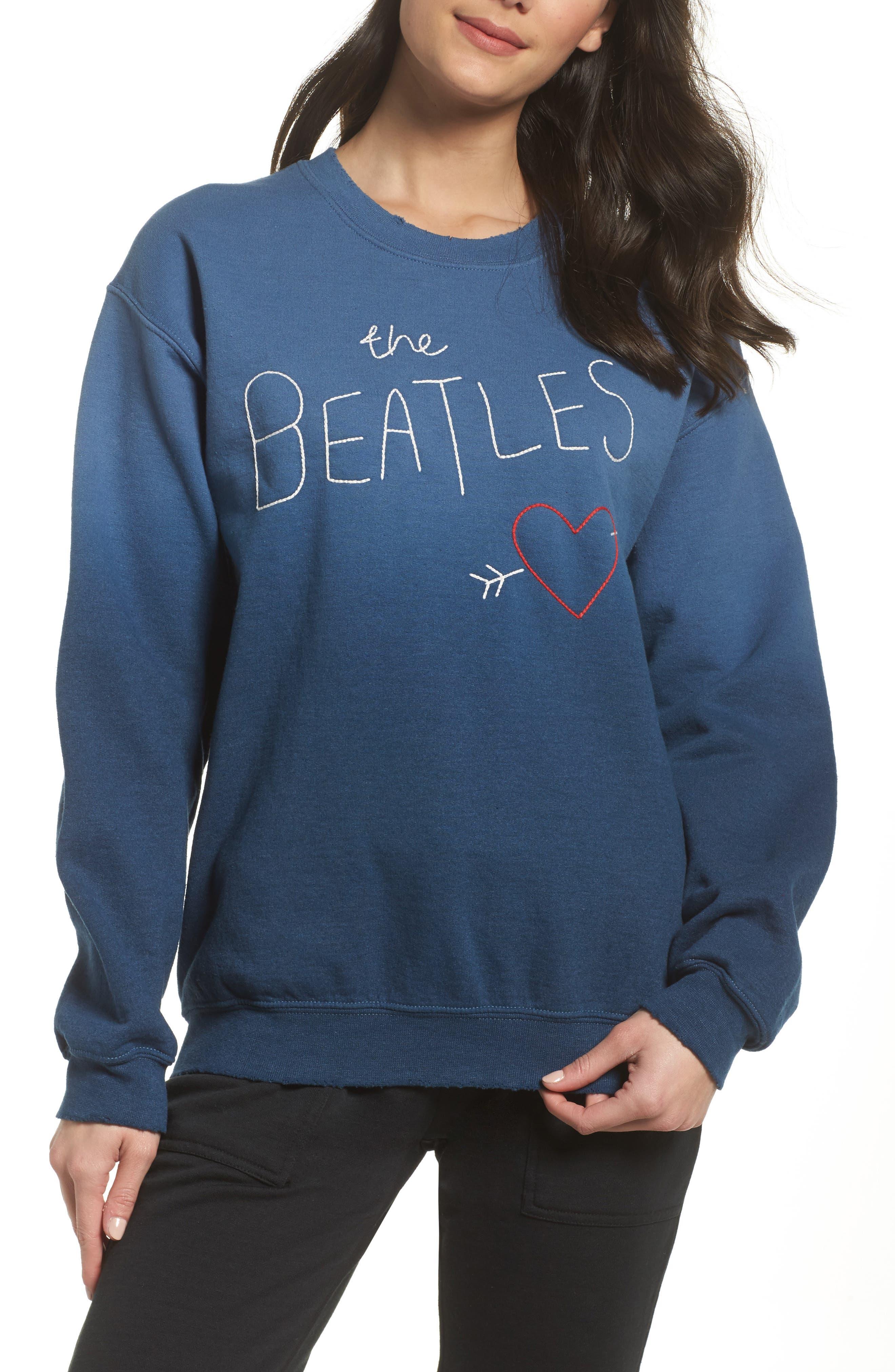 The Beatles Ombré Sweatshirt,                         Main,                         color, True Navy