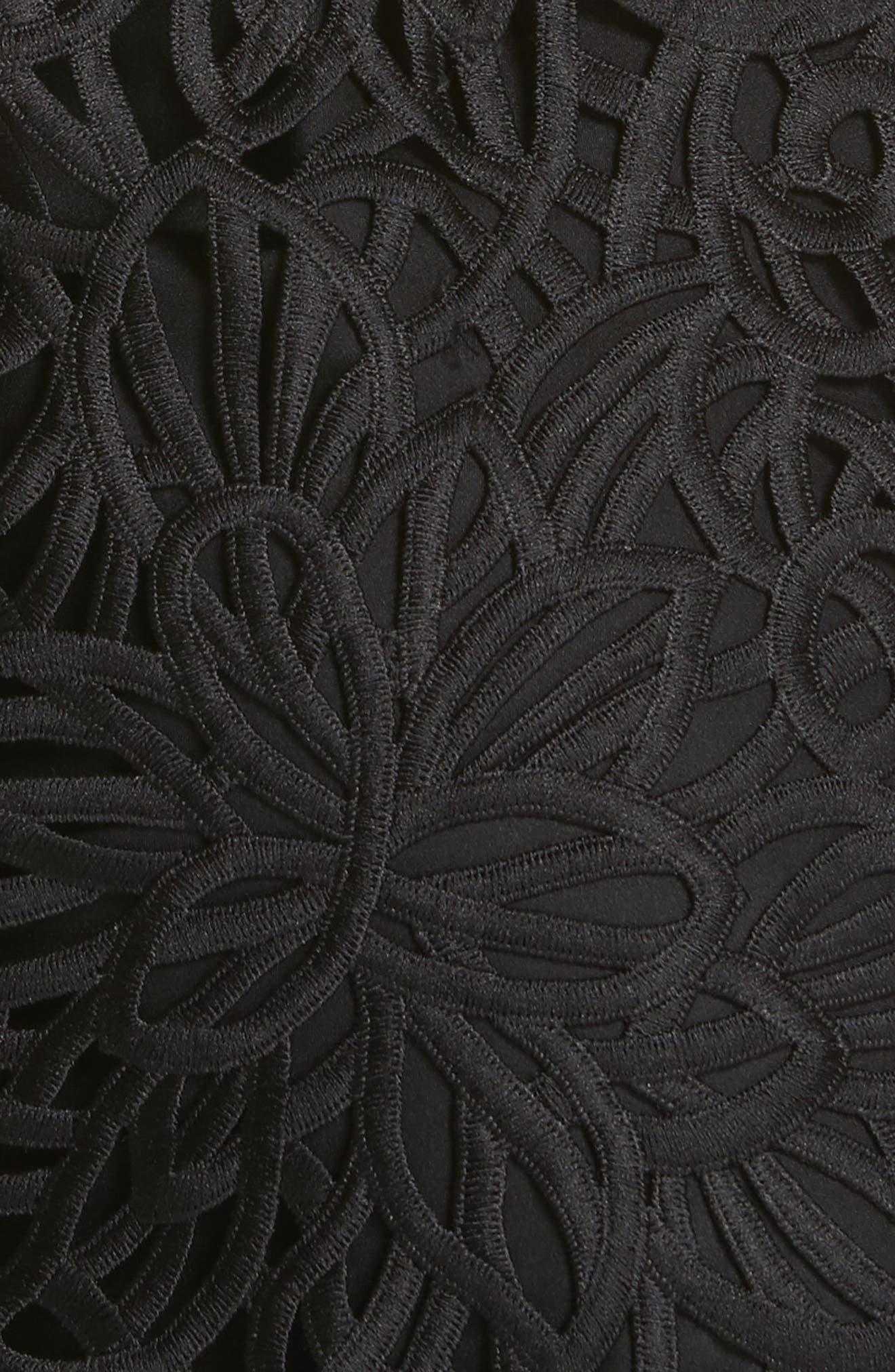 Chloe Lace Shift Dress,                             Alternate thumbnail 5, color,                             Black