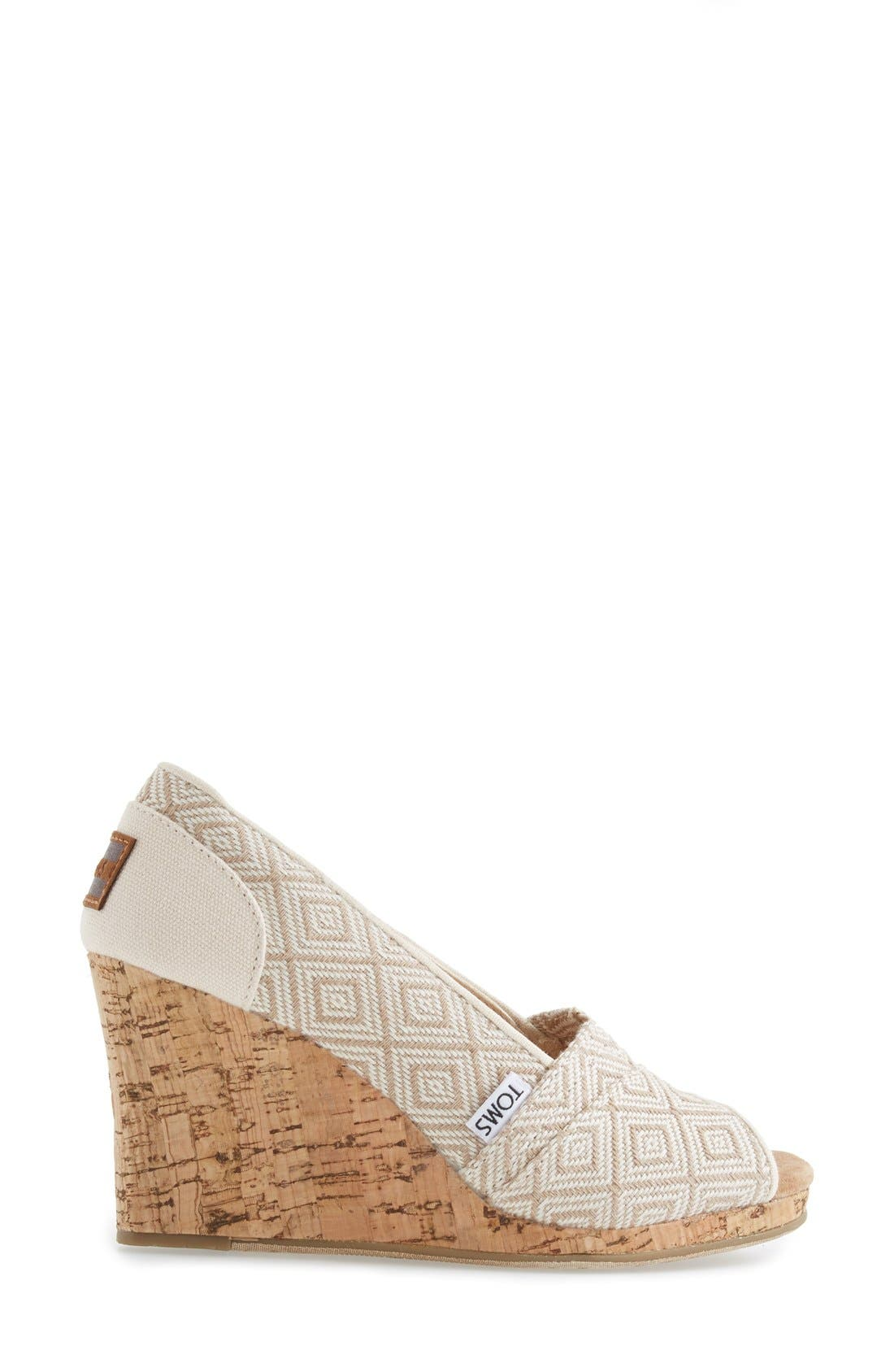Alternate Image 5  - TOMS 'Classic' Woven Wedge Sandal (Women)