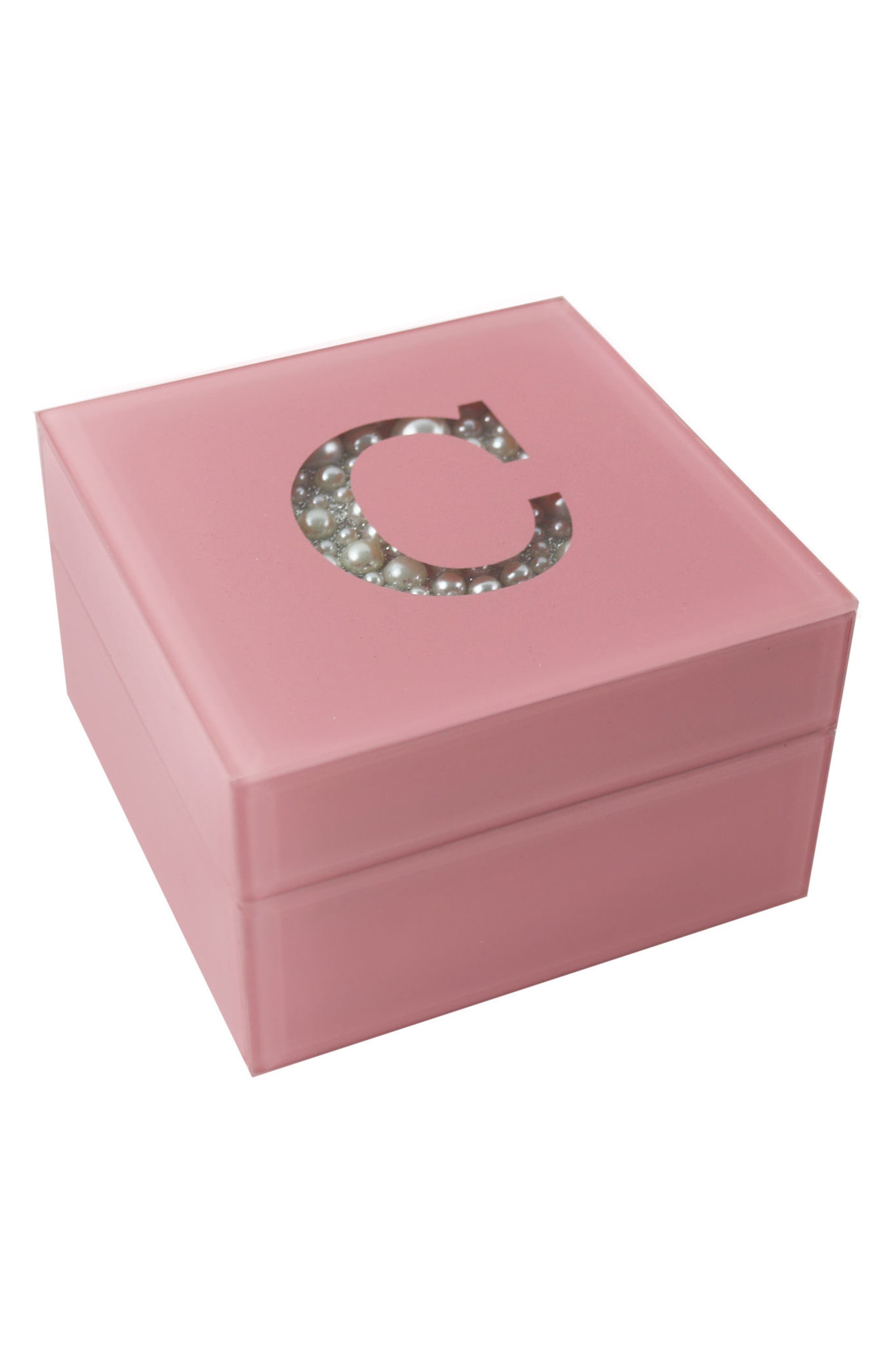 American Atelier Imitation Pearl Monogram Jewelry Box