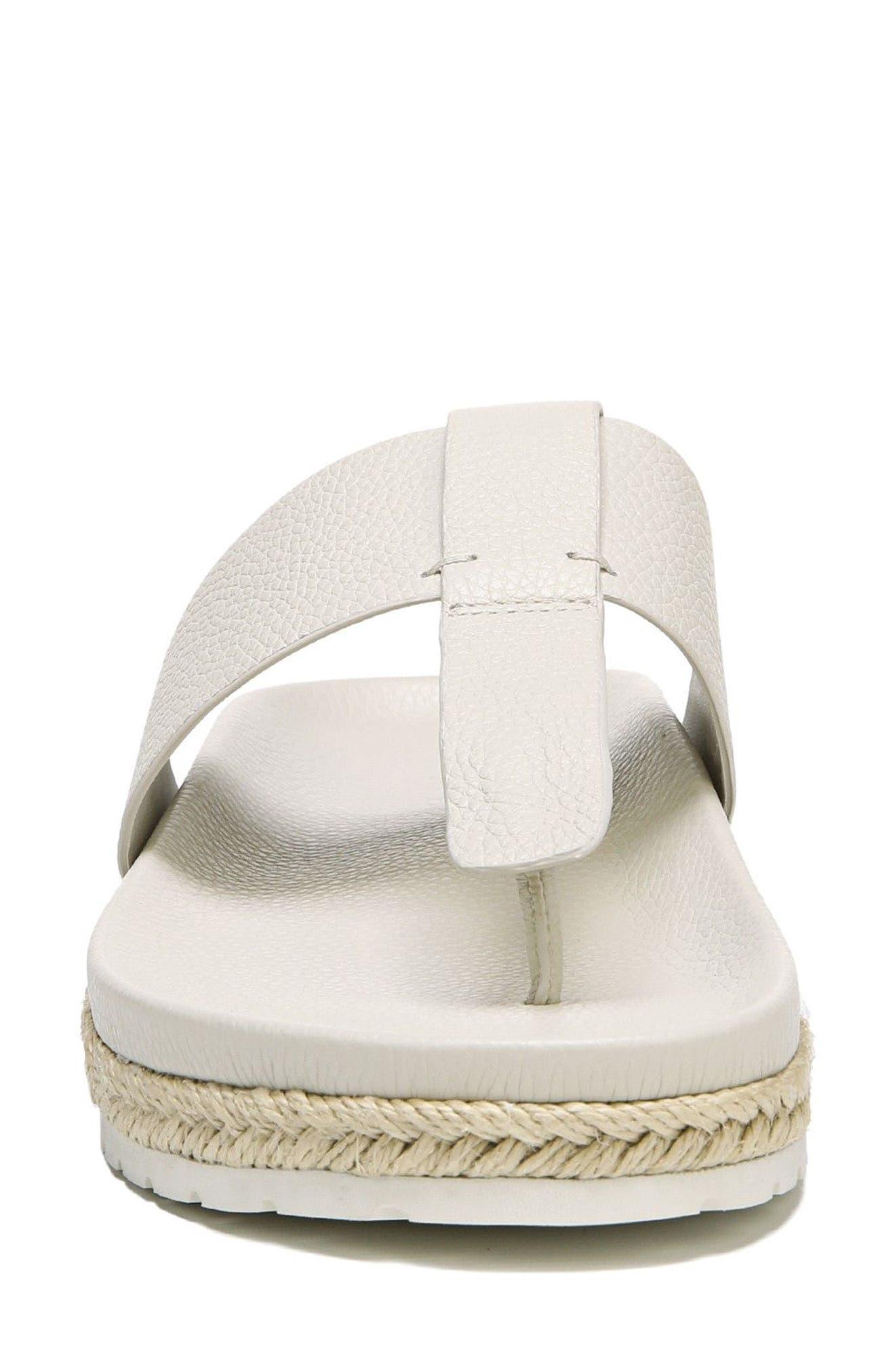 Avani T-Strap Flat Sandal,                             Alternate thumbnail 4, color,                             Oyster