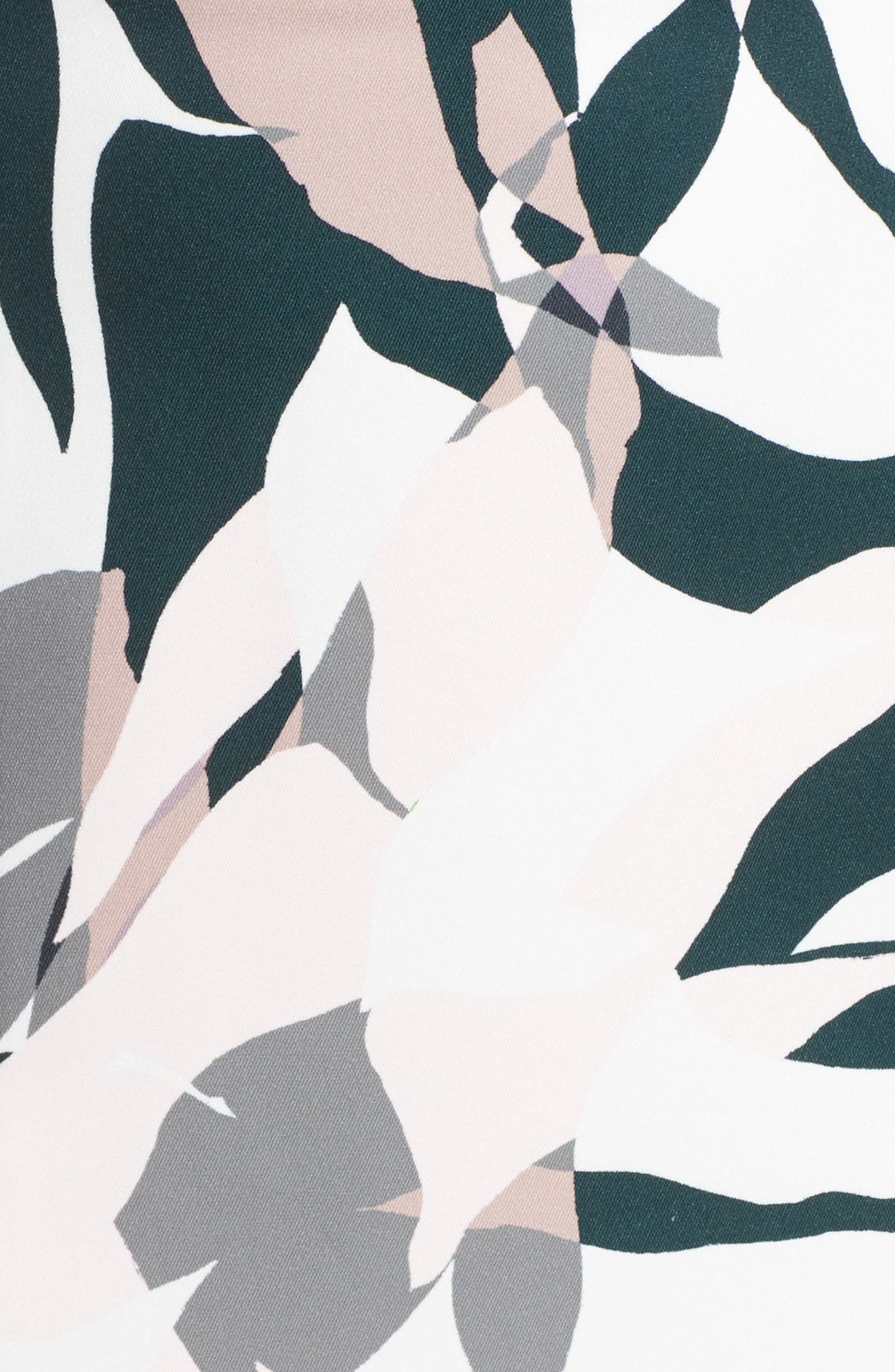 Leaf Dancer Flounce Hem Dress,                             Alternate thumbnail 5, color,                             Print
