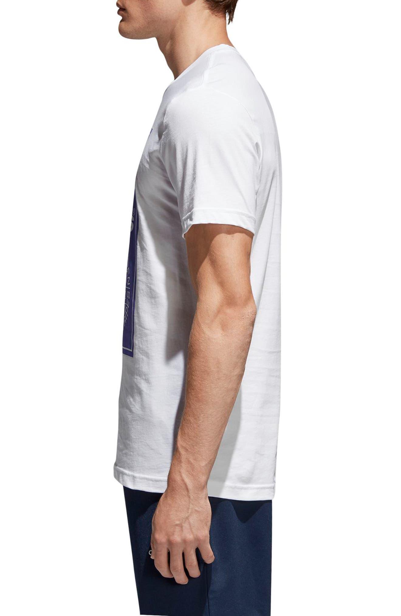 Tongue Label T-Shirt,                             Alternate thumbnail 3, color,                             White