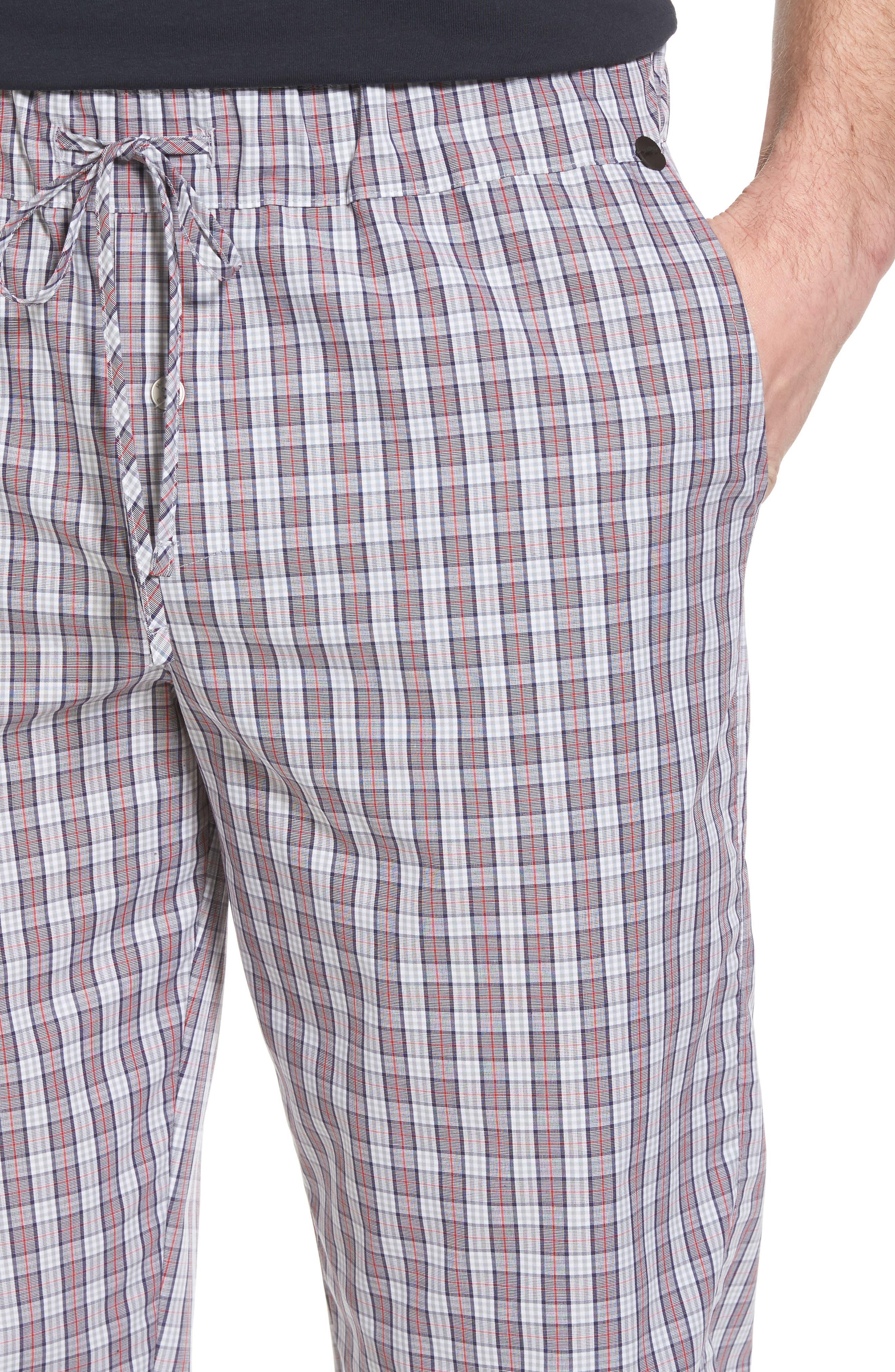 Night & Day Woven Lounge Pants,                             Alternate thumbnail 4, color,                             Red Karo