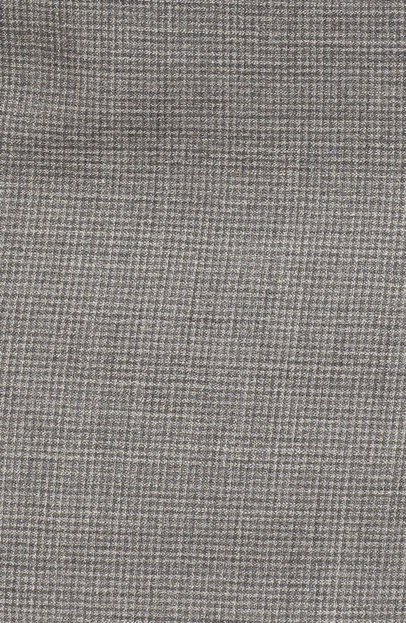 Vewisa Check Wool Suit Skirt,                             Alternate thumbnail 5, color,                             Cozy Grey Melange Fantasy