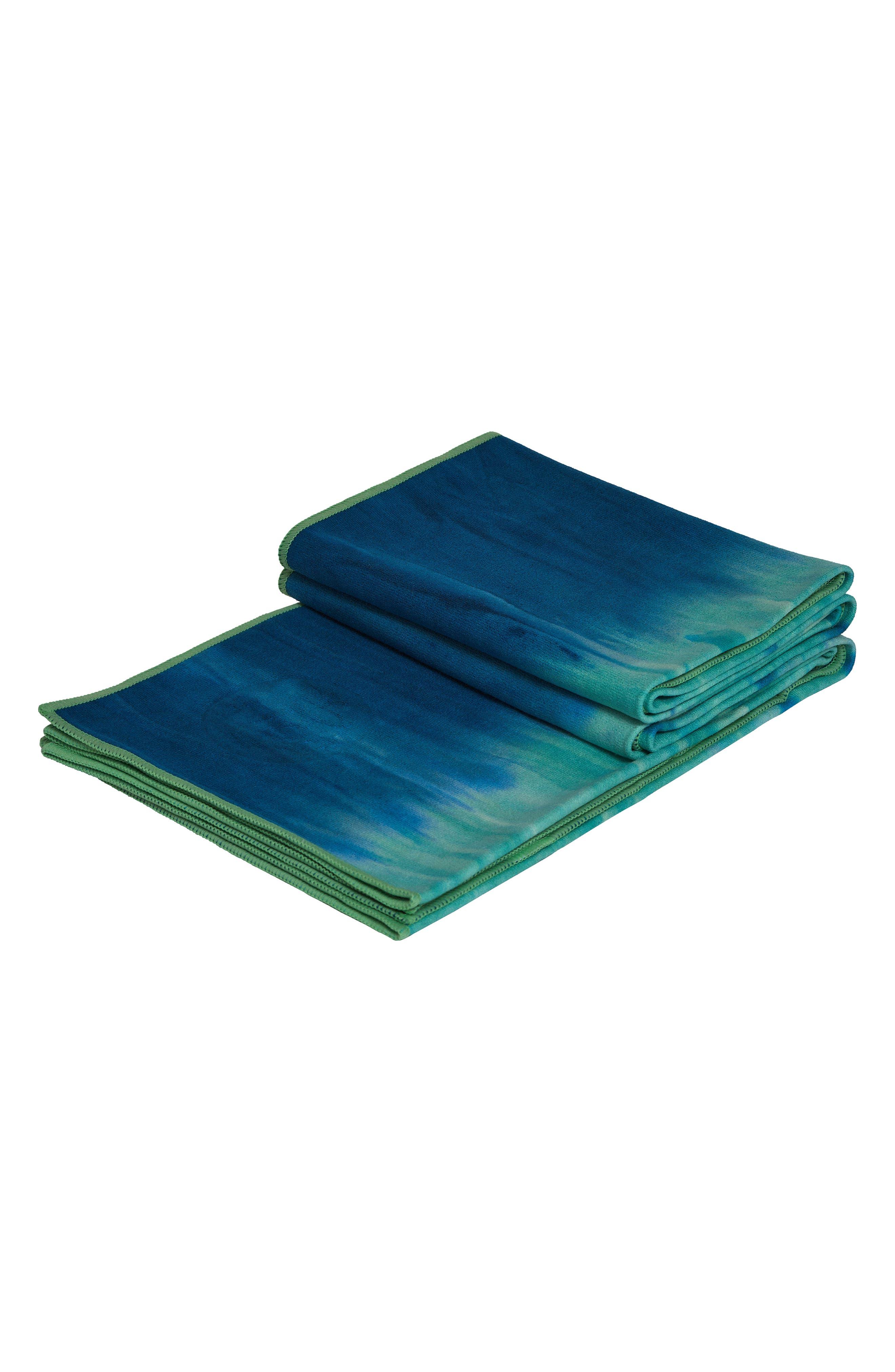 eQua<sup>®</sup> Hand Dyed Yoga Mat Towel,                             Alternate thumbnail 3, color,                             Maldive