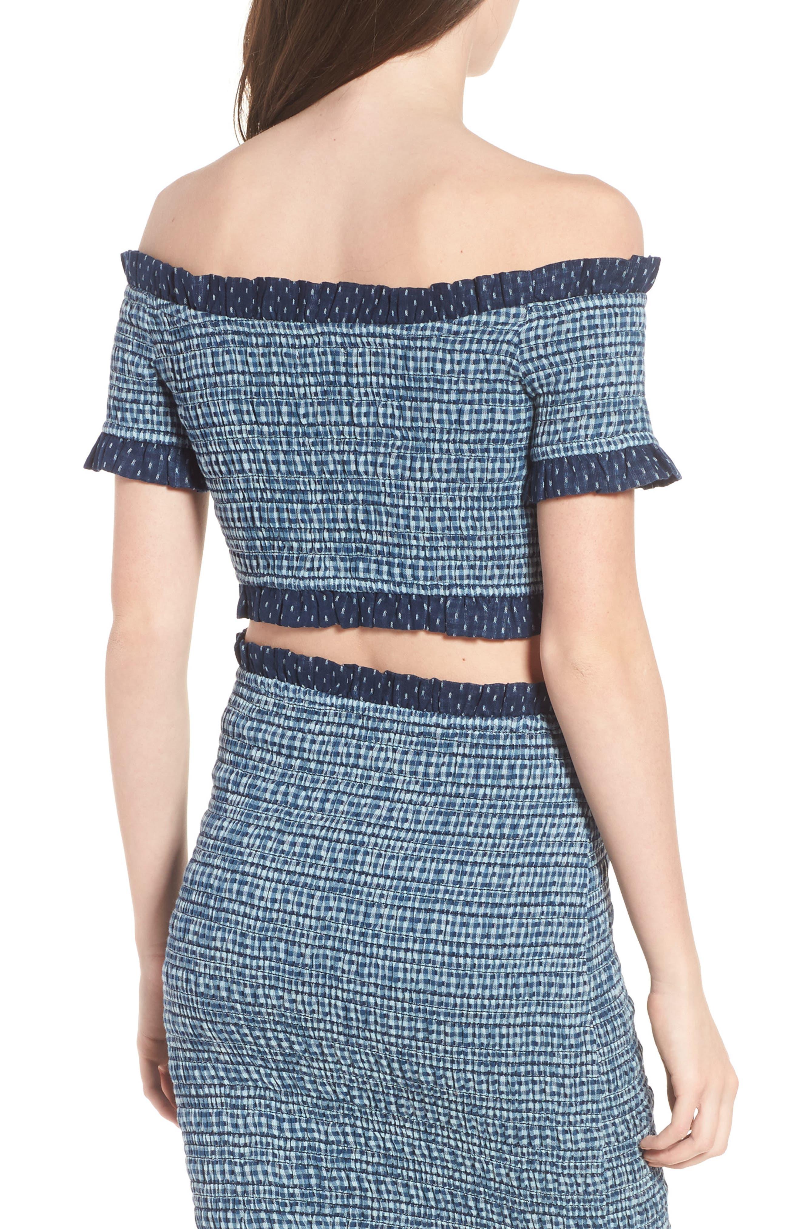 Alternate Image 2  - Tularosa Smocked Off the Shoulder Kylie Crop Top