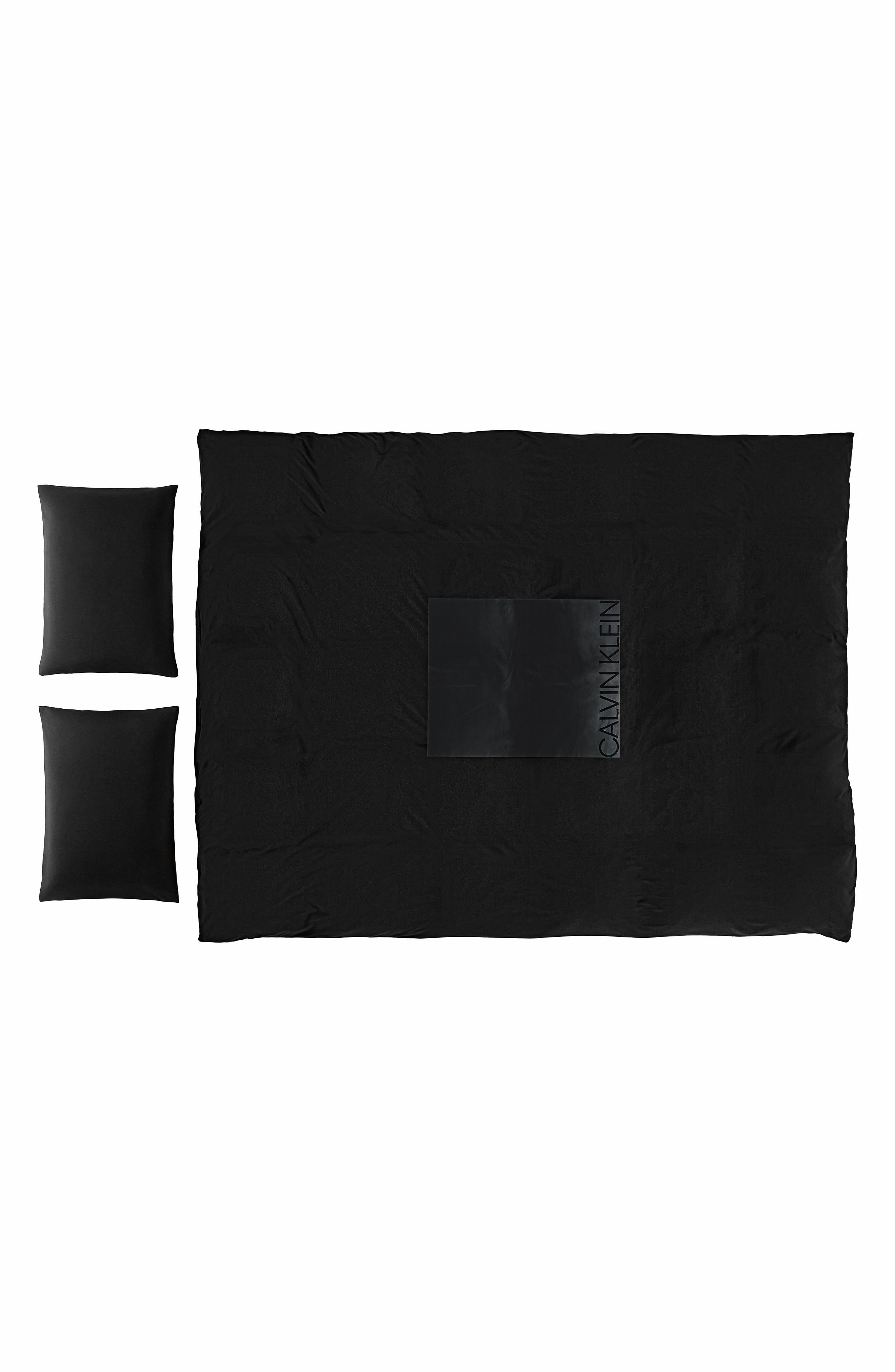 Duvet Cover,                             Main thumbnail 1, color,                             Black