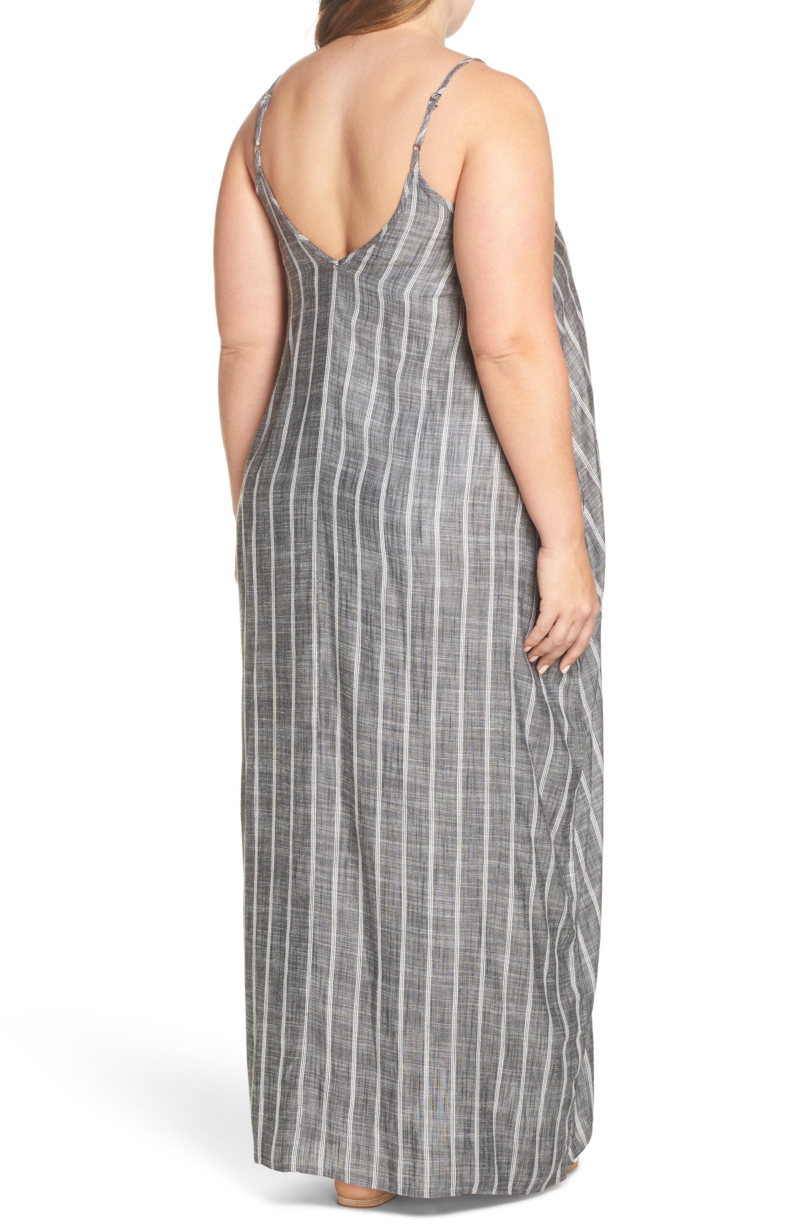 Cover-Up Maxi Dress,                             Alternate thumbnail 2, color,                             Grey