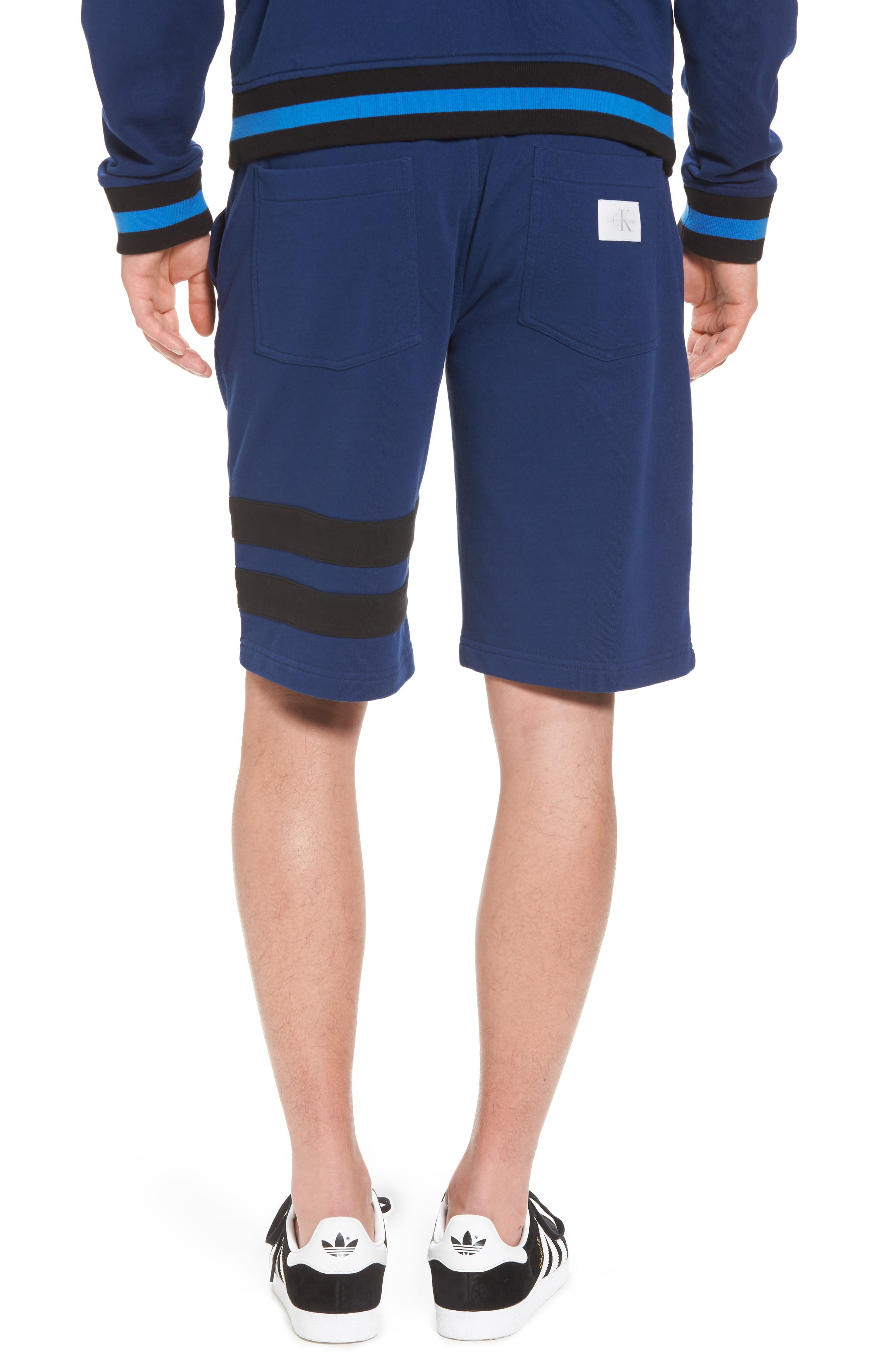 Stripe Athletic Shorts,                             Alternate thumbnail 2, color,                             Night Rider
