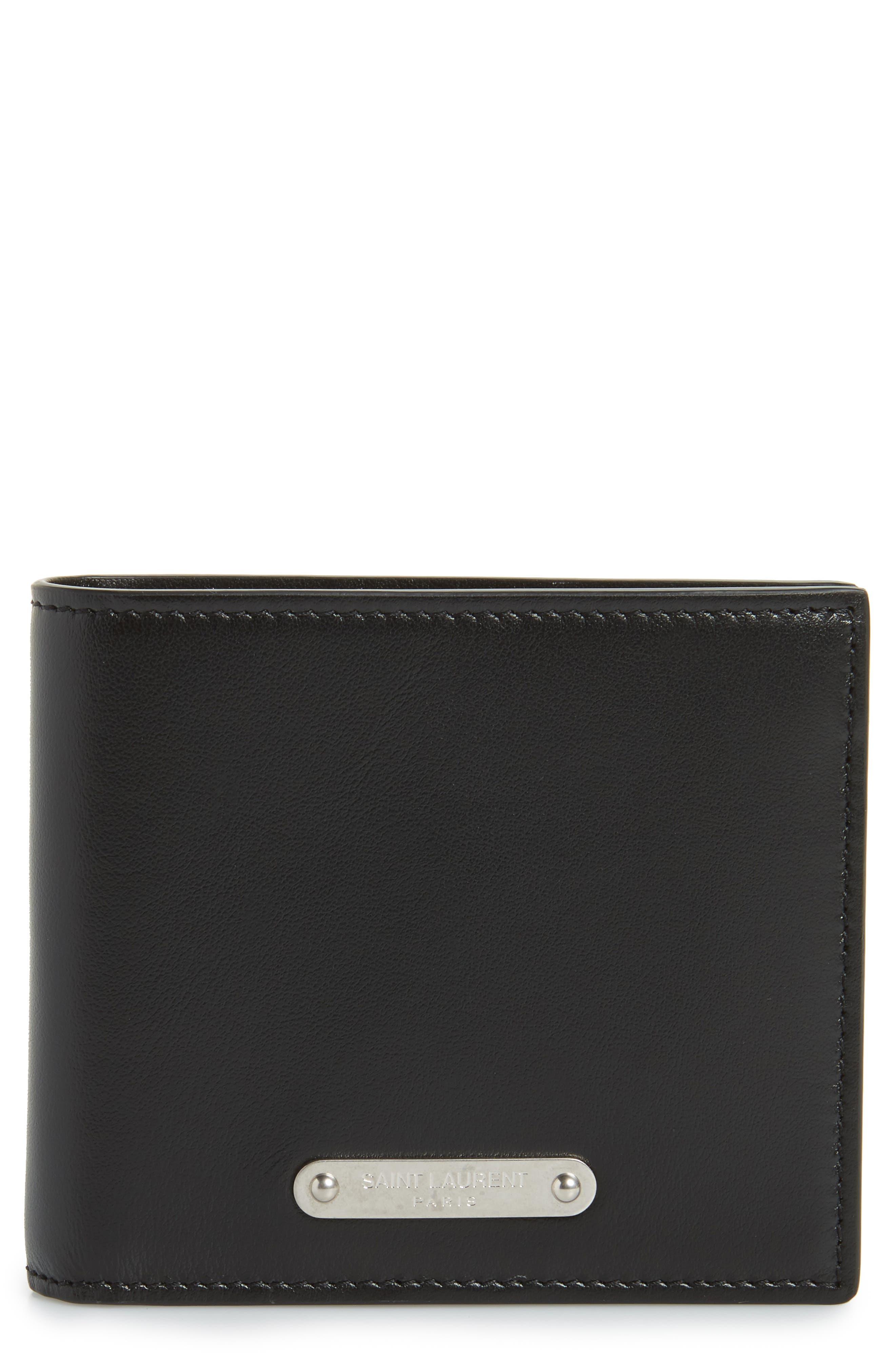 East/West Leather Wallet,                             Main thumbnail 1, color,                             Black
