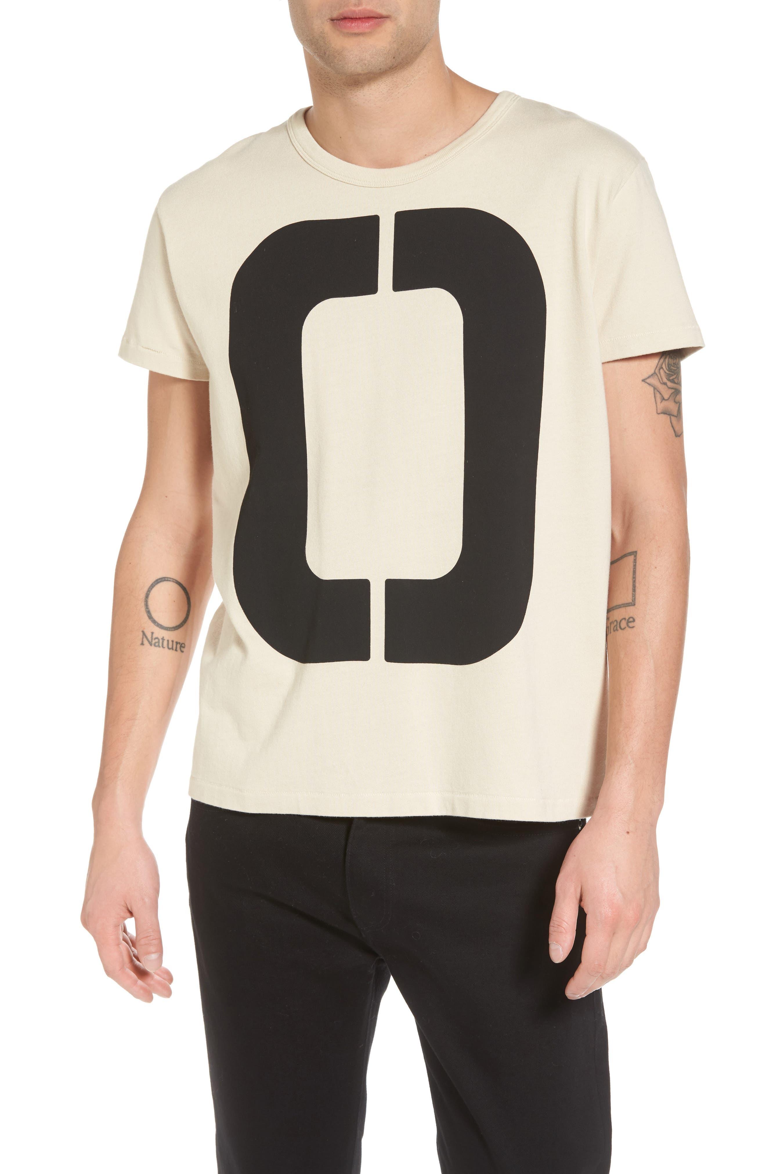 1960s Loose Graphic T-Shirt,                             Main thumbnail 1, color,                             Zero Sand Shell