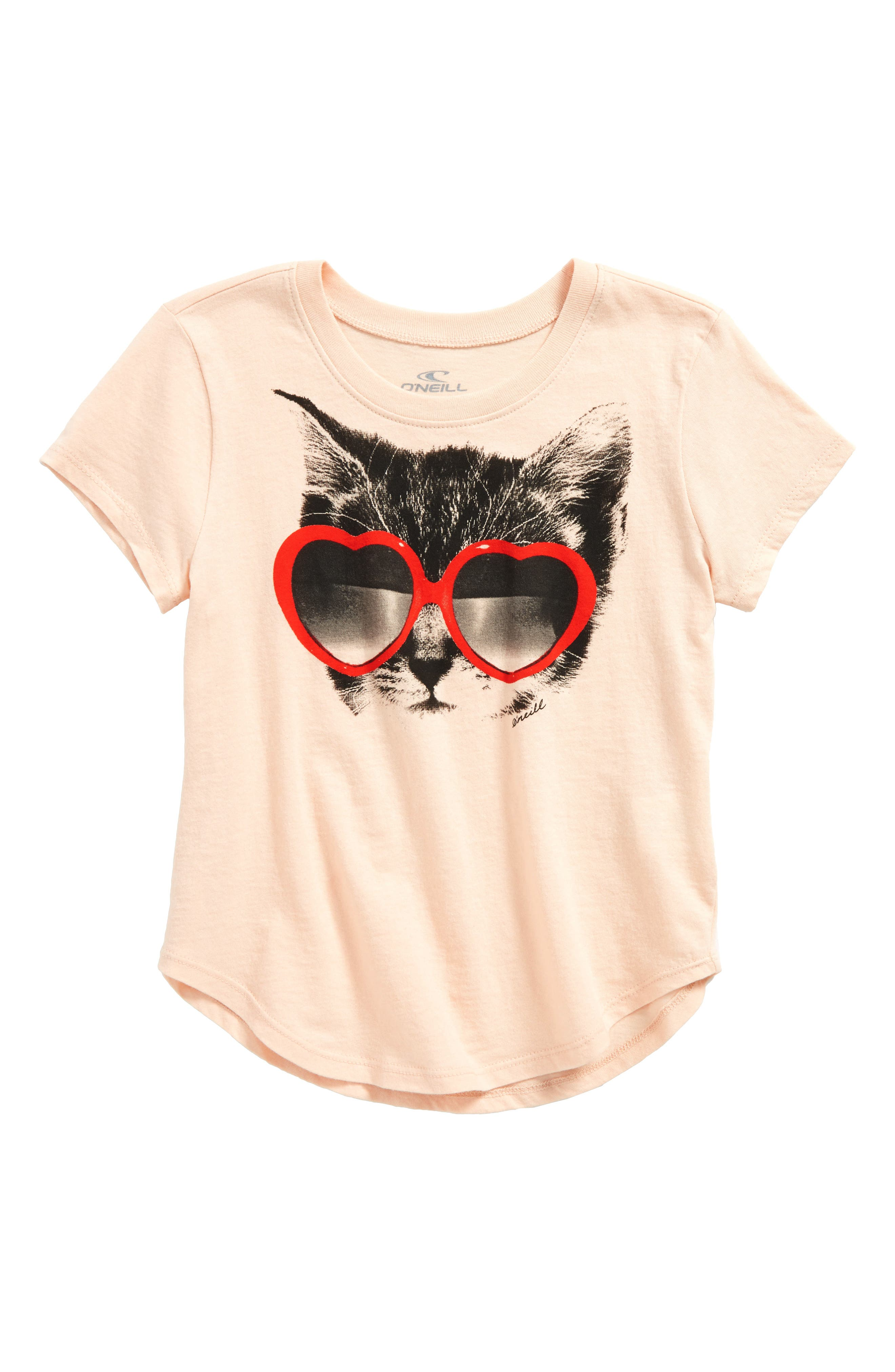 Tabby Graphic Tee,                         Main,                         color, Cameo Rose - Lly