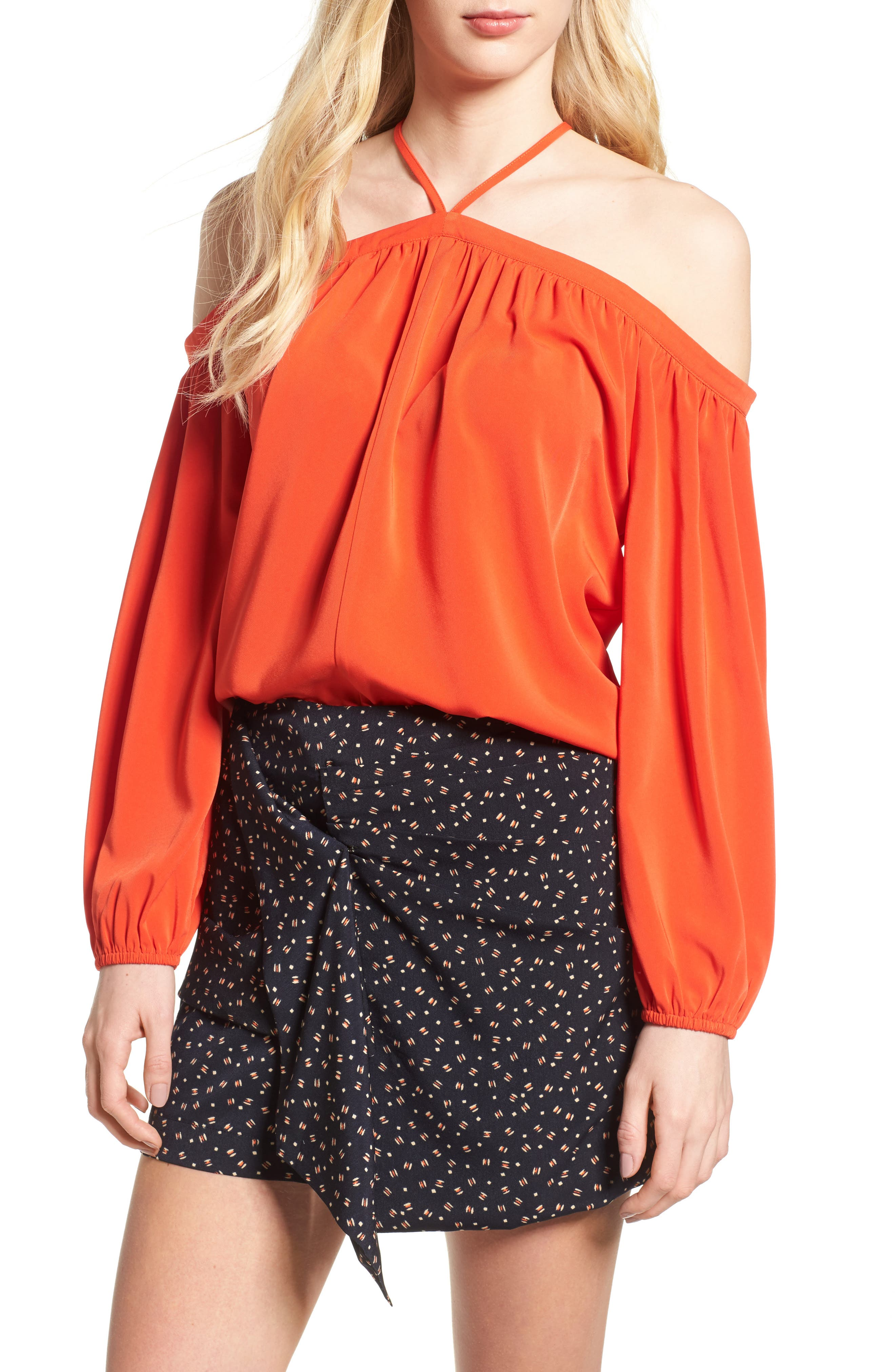 Bishop + Young Ana Off the Shoulder Top,                         Main,                         color, Poppy Pop