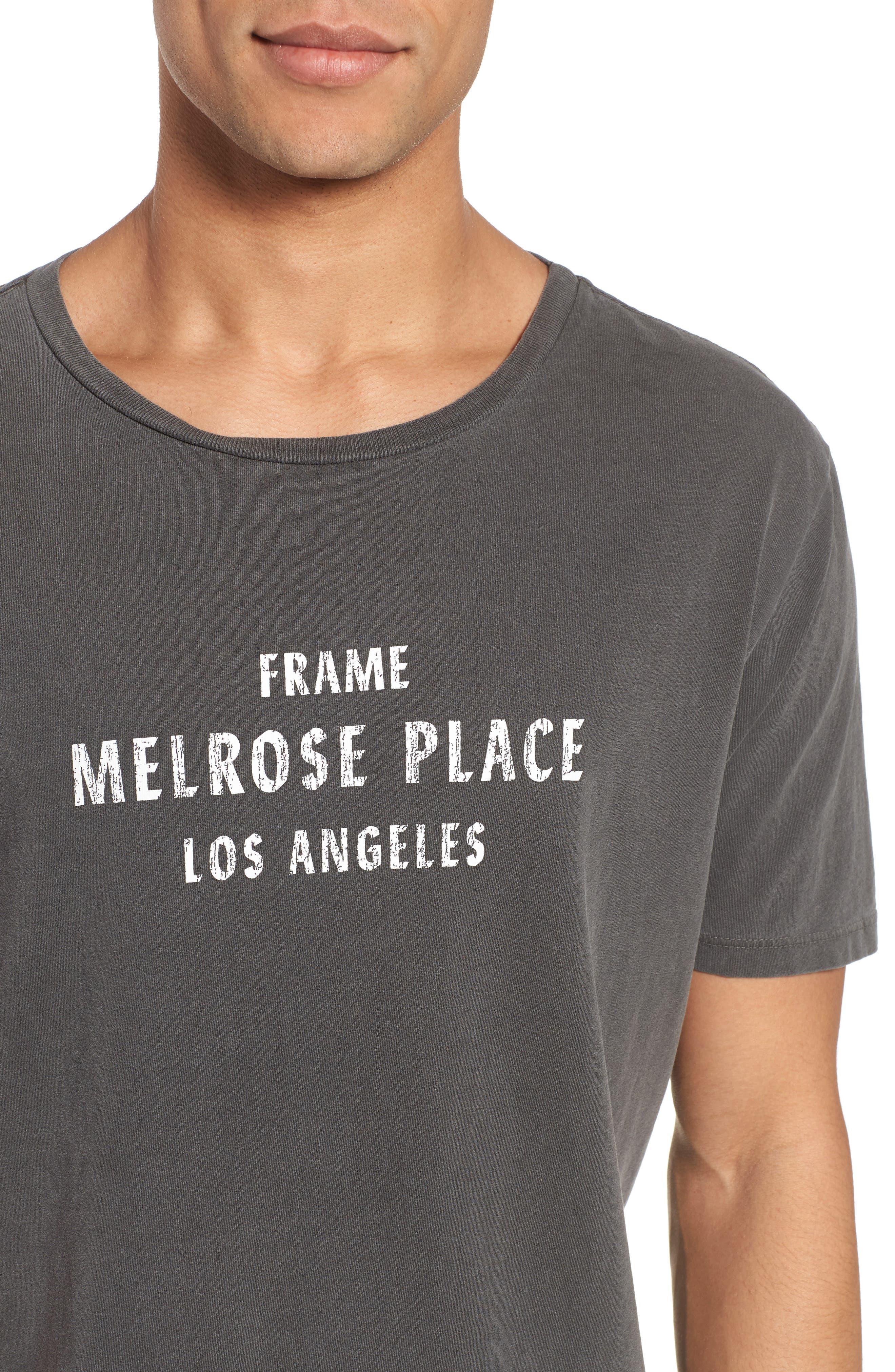 Melrose Place Vintage Graphic T-Shirt,                             Alternate thumbnail 4, color,                             Faded Noir