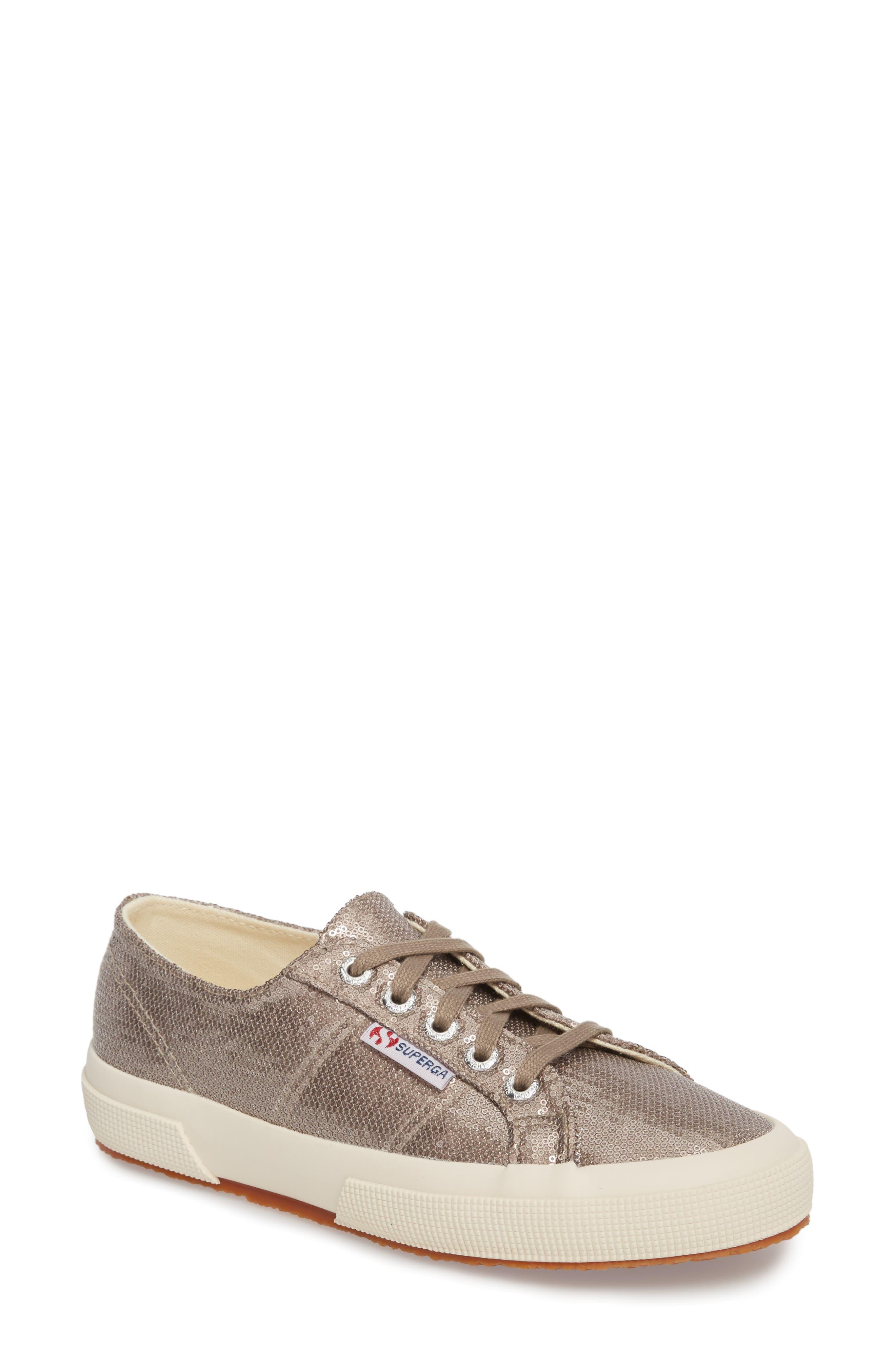 2750 Micro Sequin Sneaker,                             Main thumbnail 1, color,                             Bronze