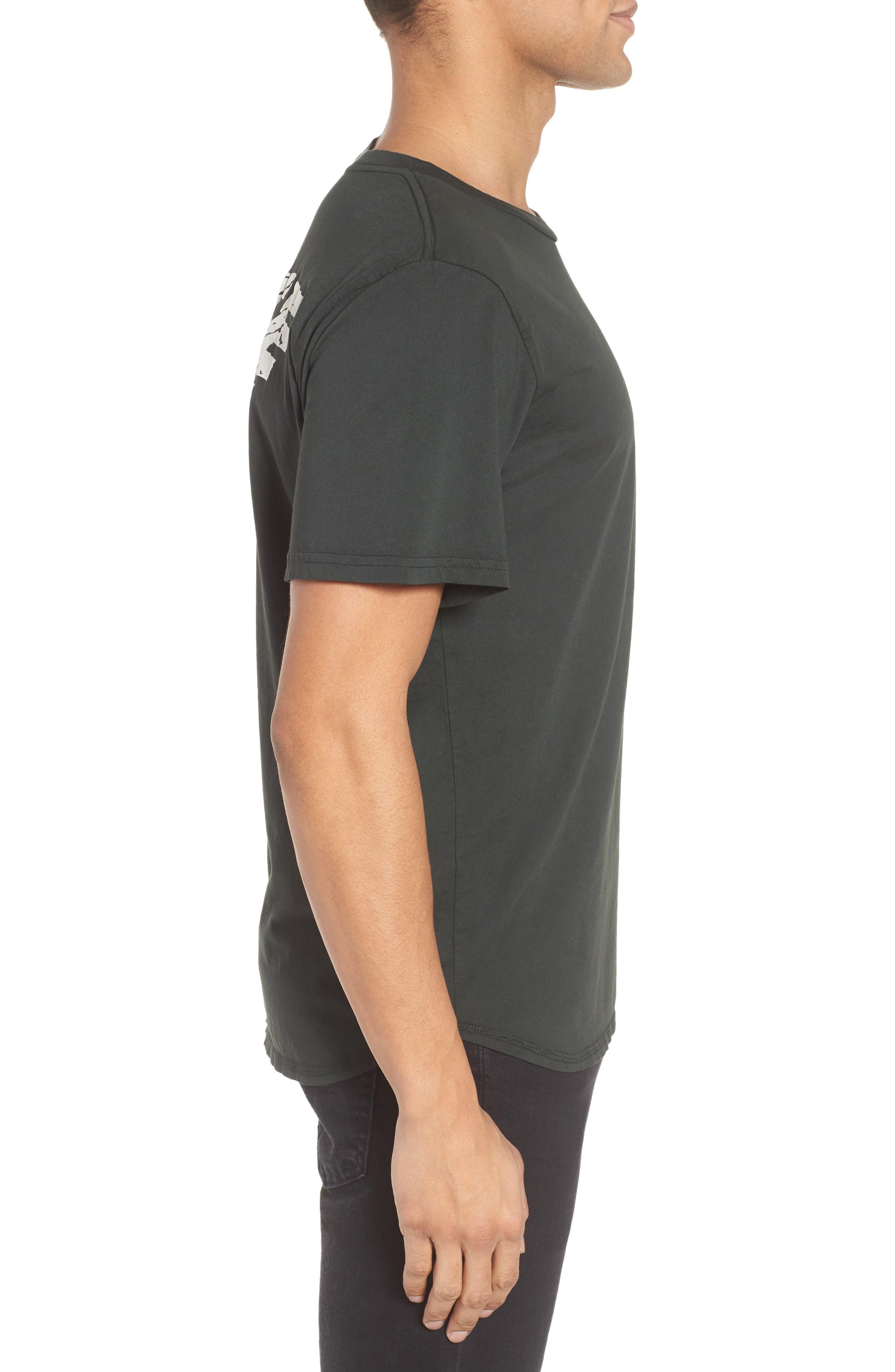 White Riot Graphic T-Shirt,                             Alternate thumbnail 3, color,                             Dusty Black