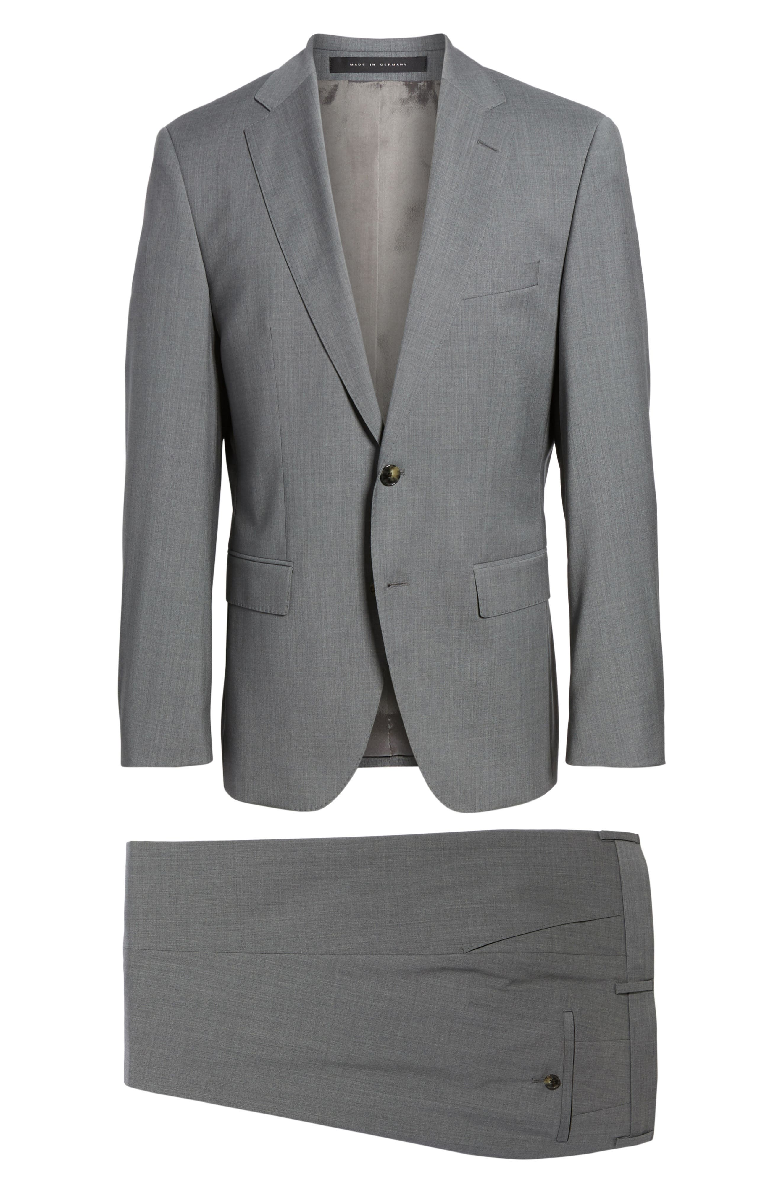 Johnstons/Lenon Classic Fit Solid Wool Suit,                             Alternate thumbnail 8, color,                             Medium Grey
